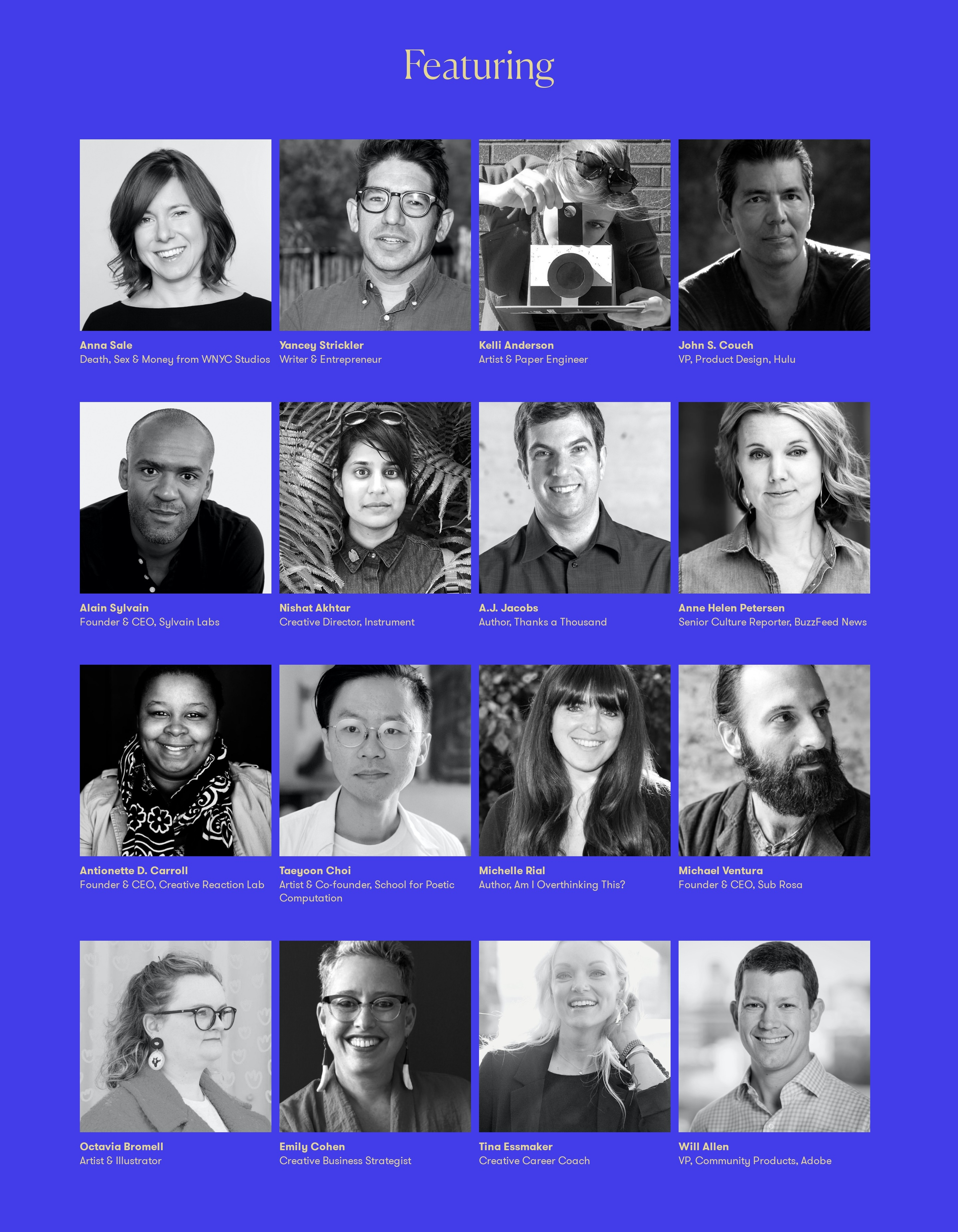 Conference Speakers List with Photos