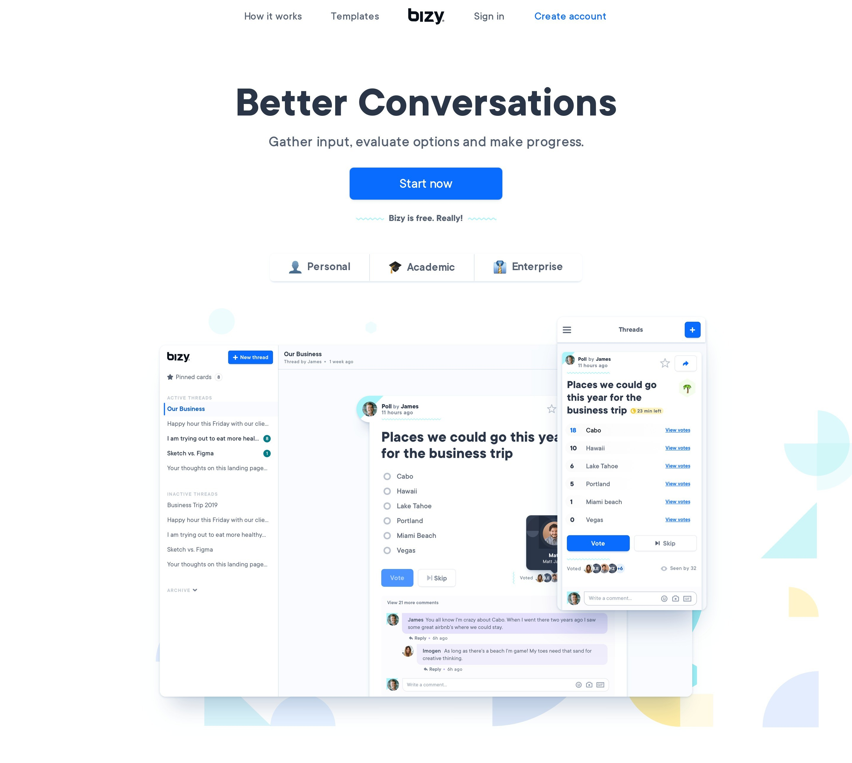 Hero Block with Large Headline & App Image