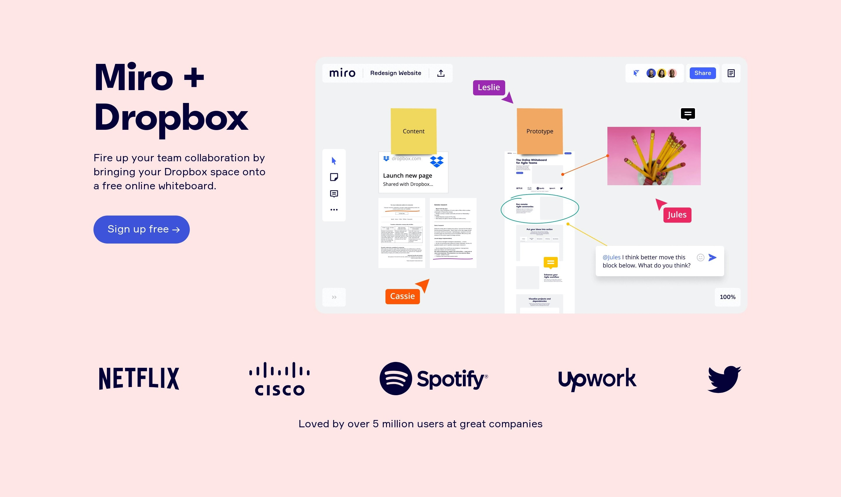 Hero Block with Web App Mockup & Logos