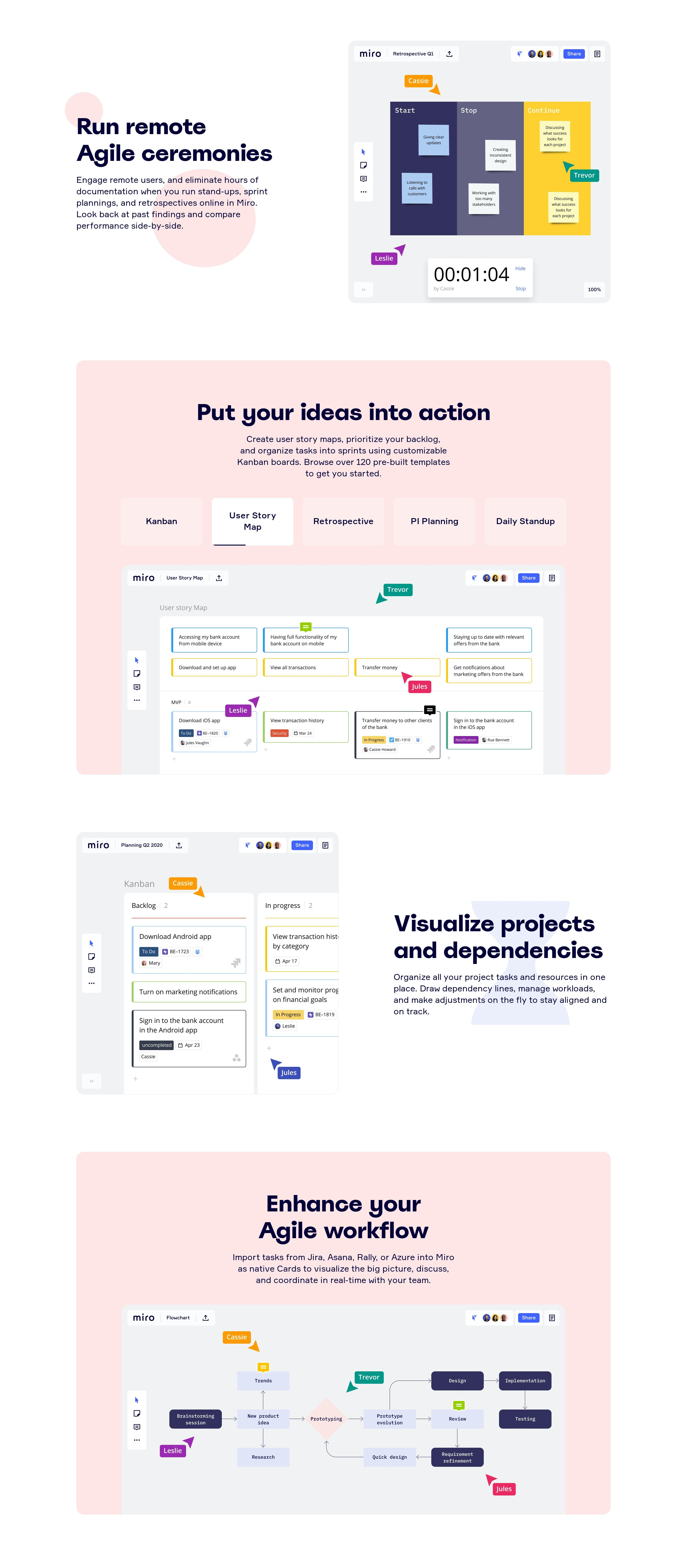 Features Page for Web App with Tabs