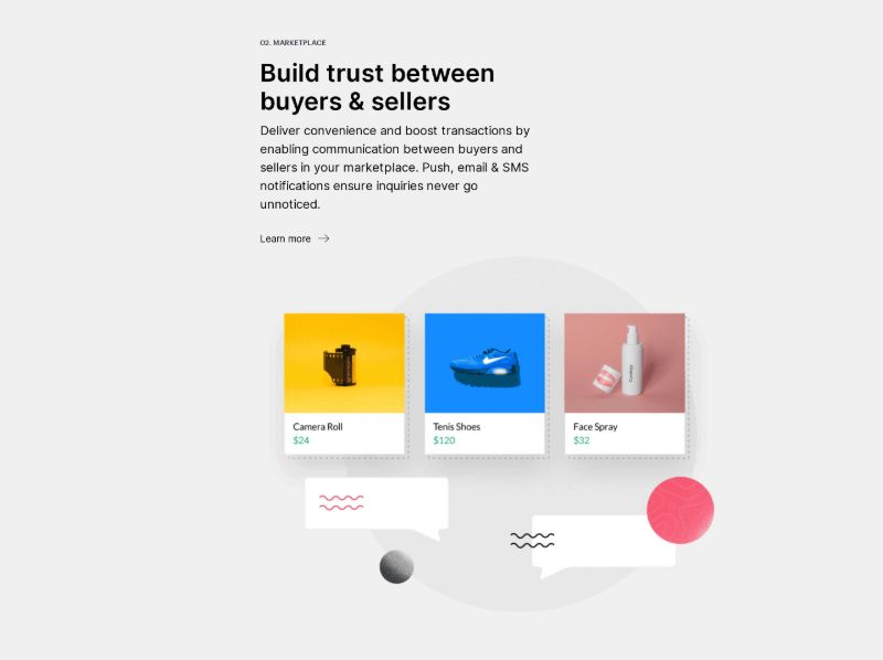 Marketplace Feature Section with Image