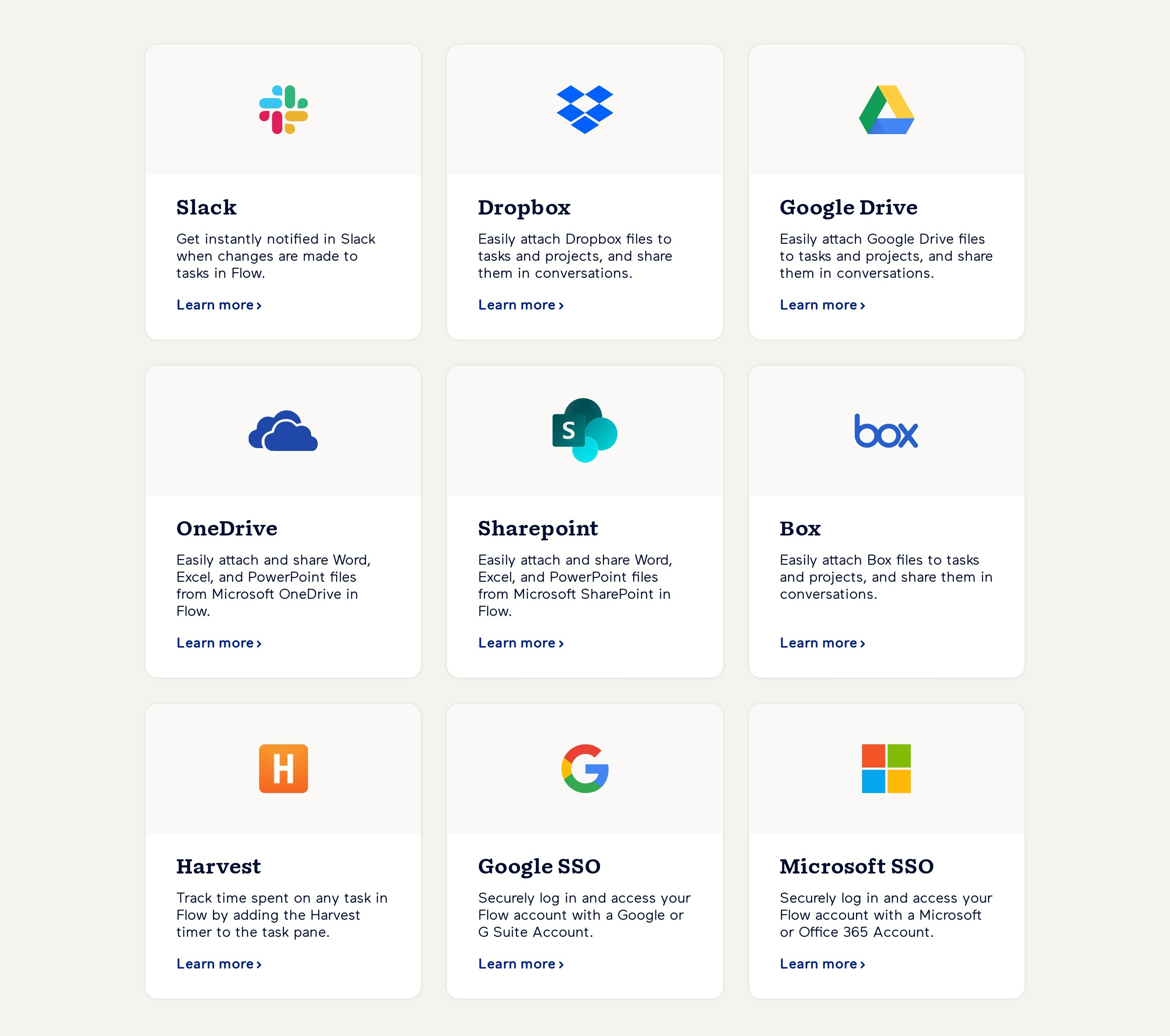 Apps Integrations Cards
