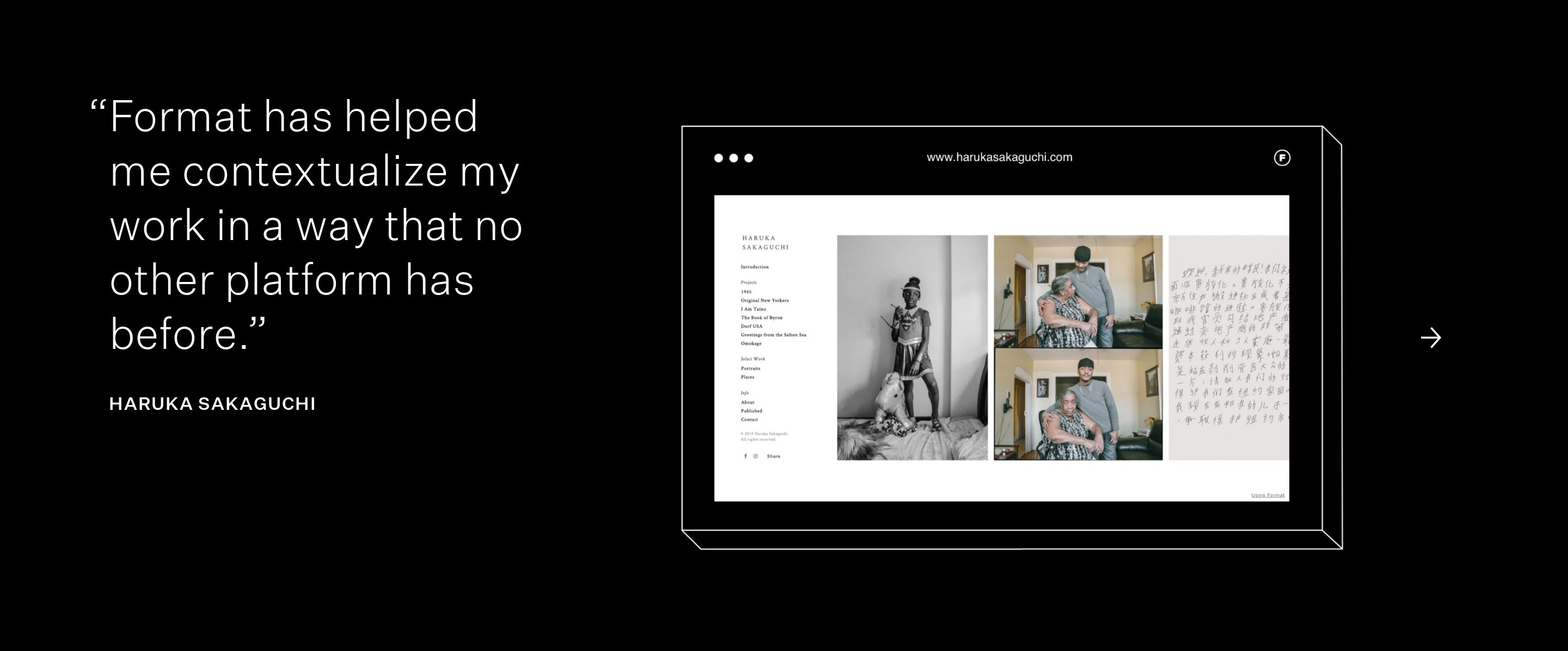 Testimonial with Browser Mockup