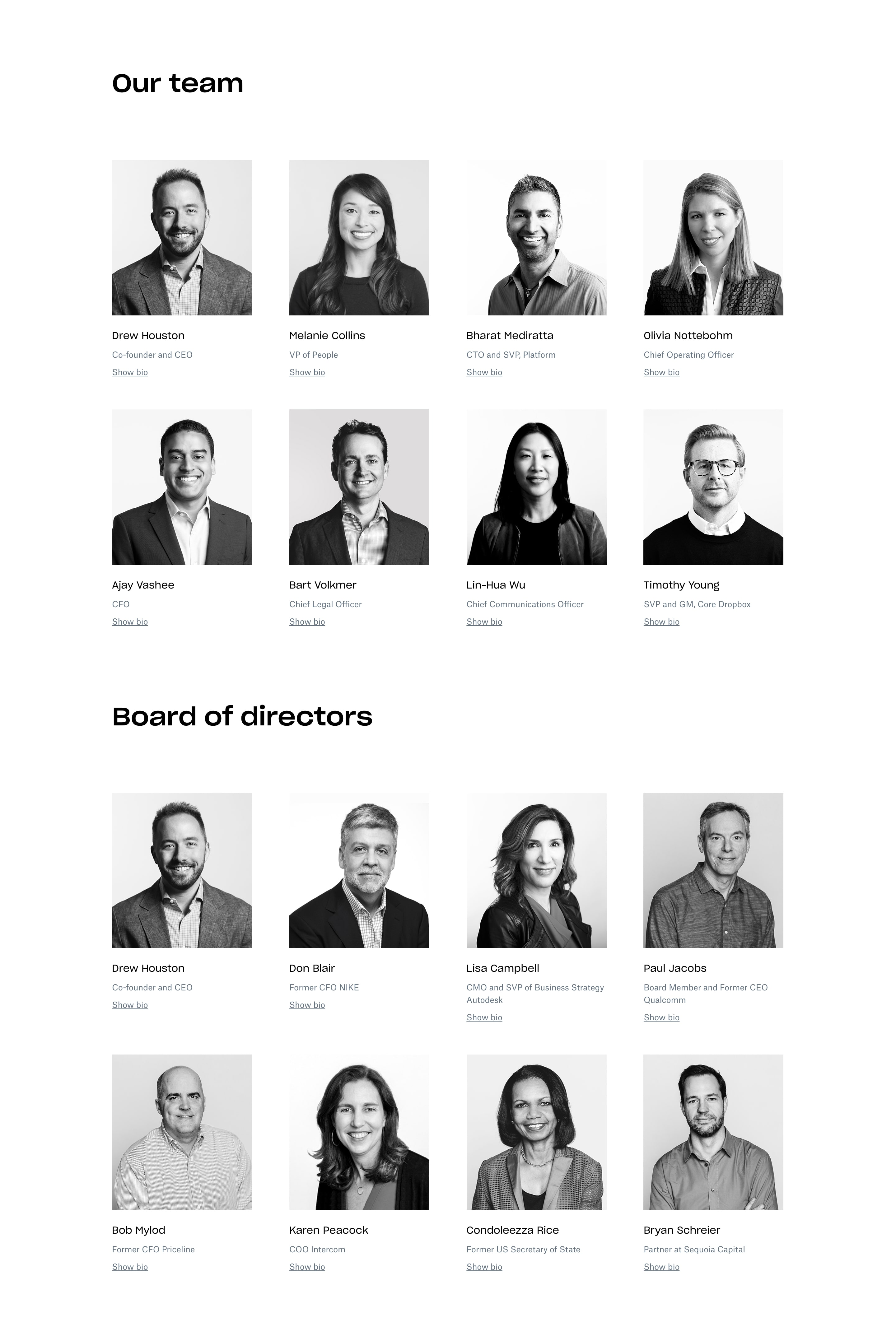 Our Team with List of Employees & Photos