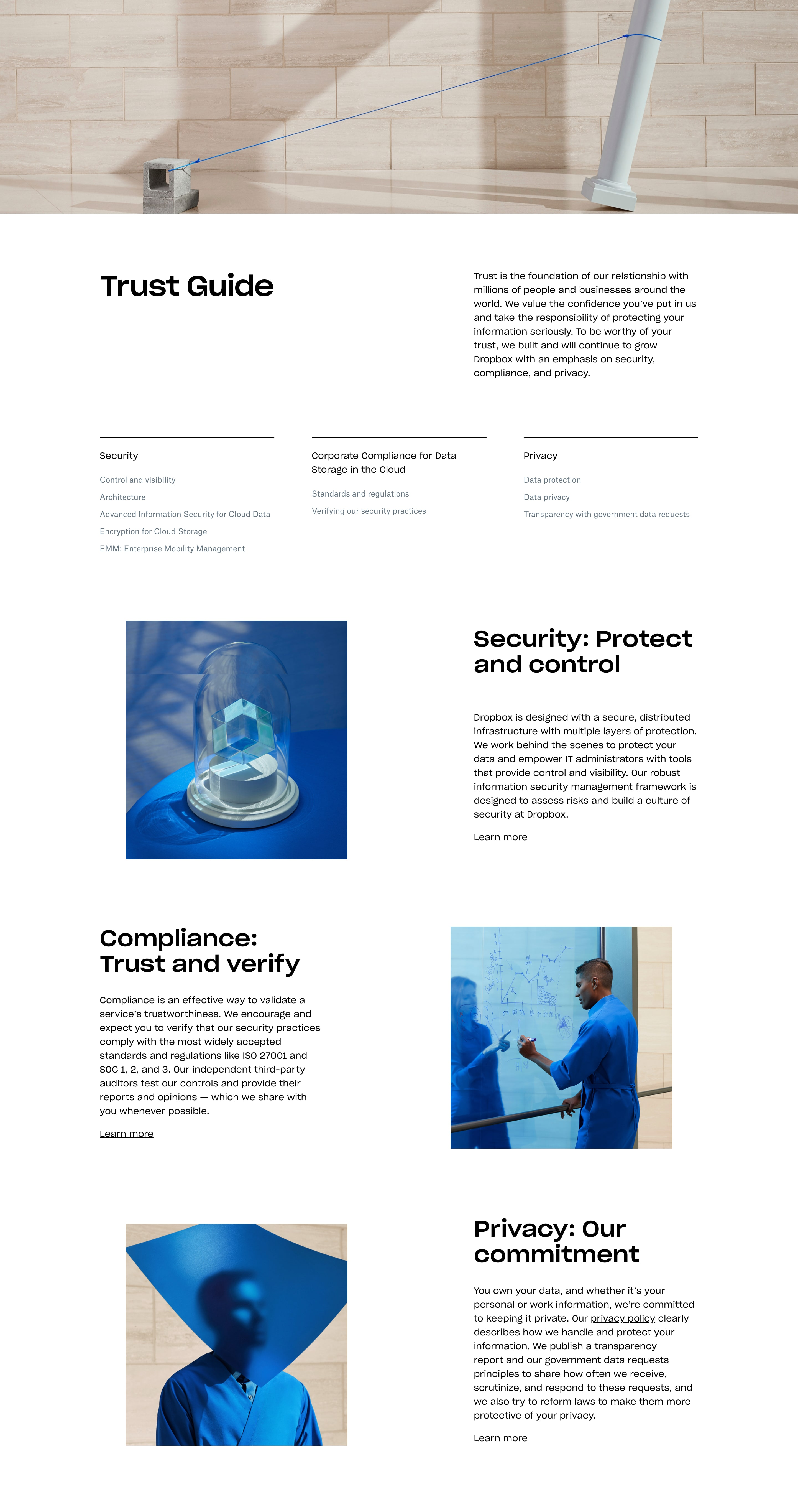 Security & Privacy Page Design