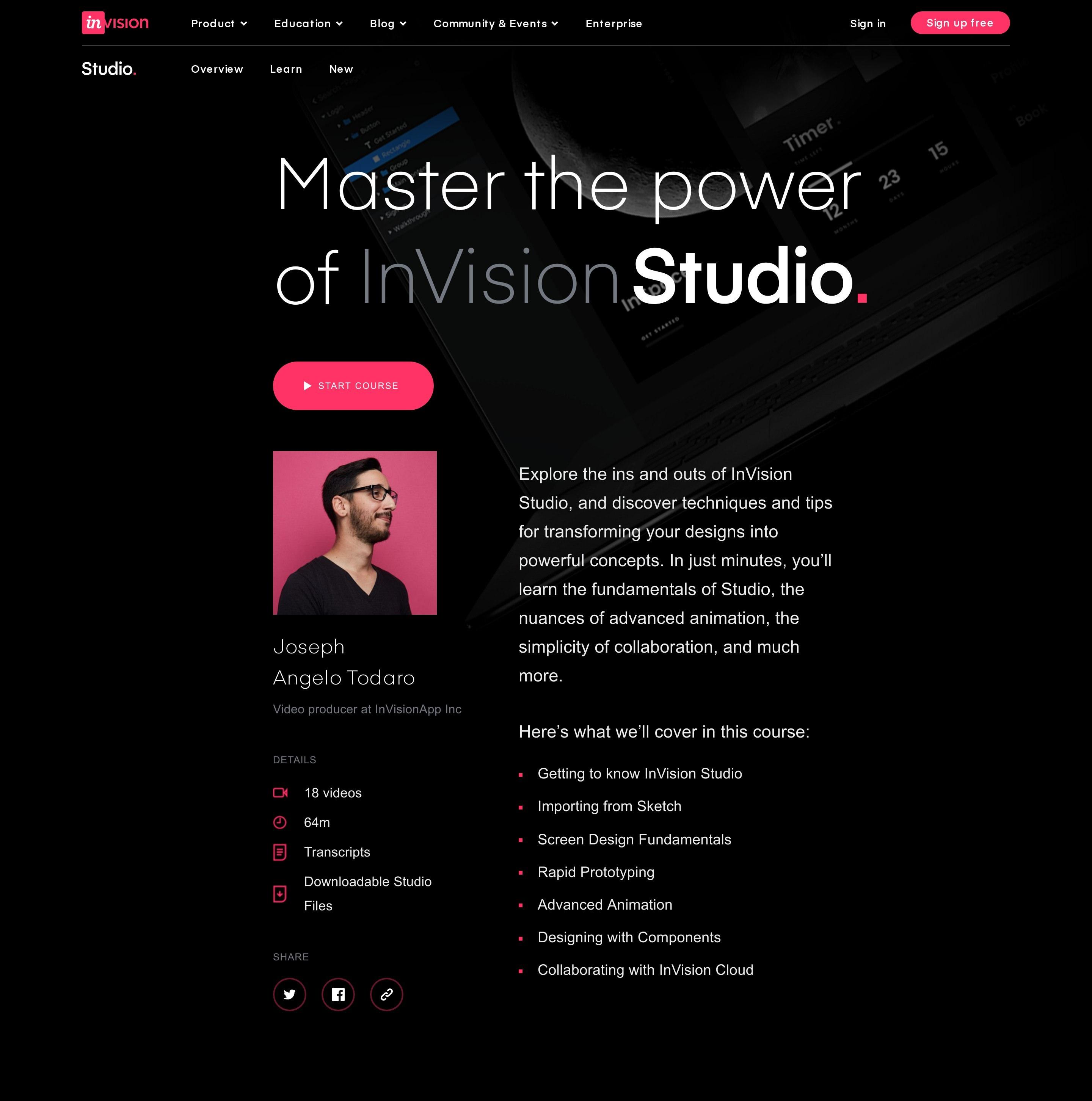 Video Course Hero Block with Summary & Author Photo