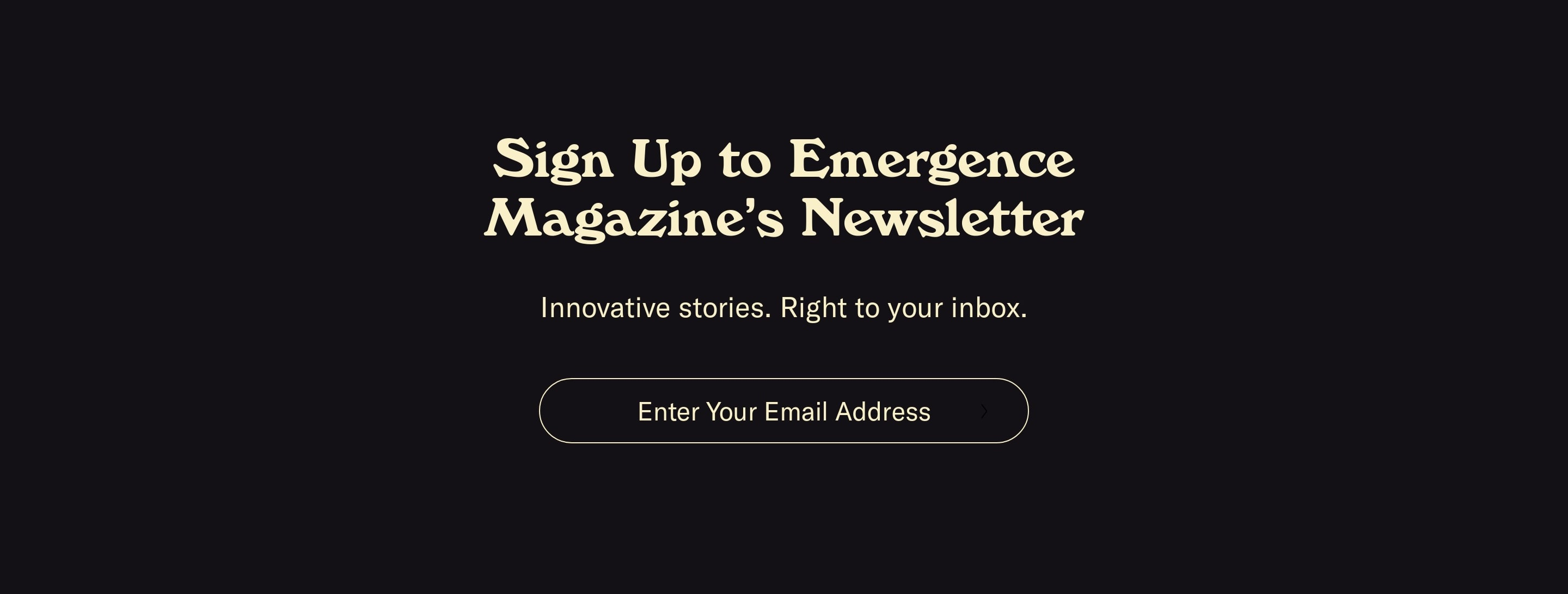 Big Subscribe Form with Email Address