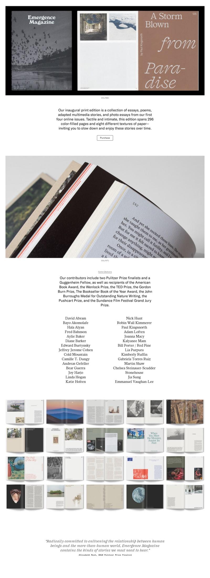 Print Magazine Presentation Page