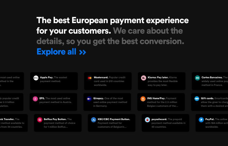Payments Integrations Grid with Icons
