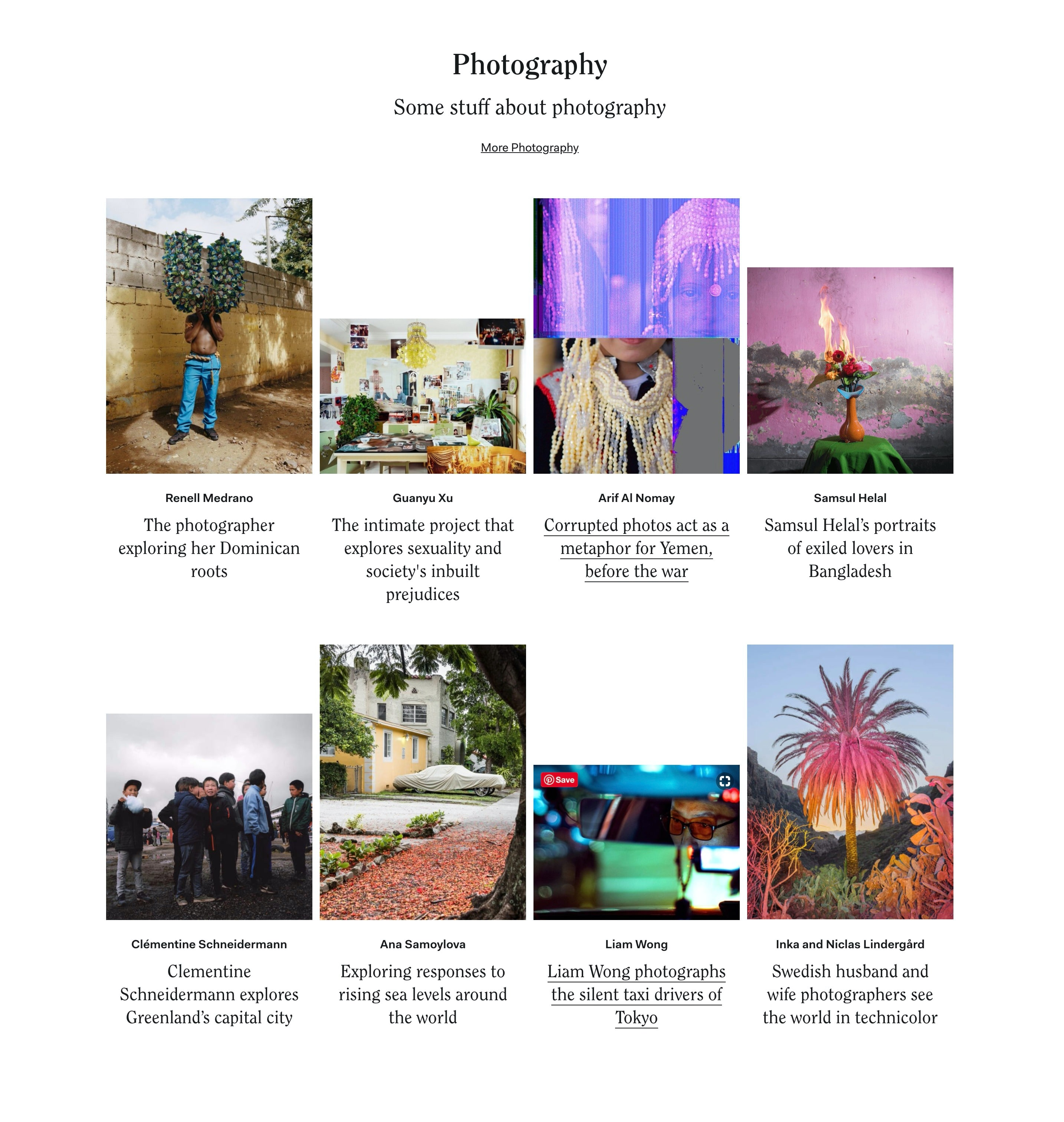 Blog Articles List in 4-Column Layout with Photos