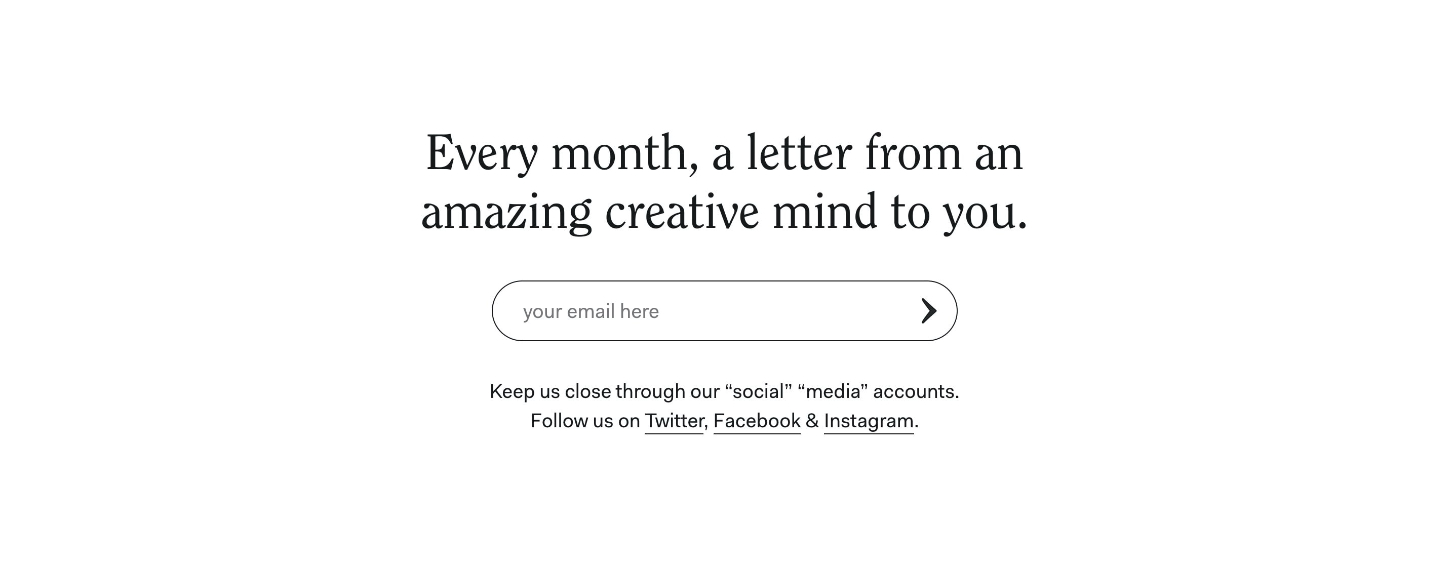 Blog Post Full-Width Subscribe Form