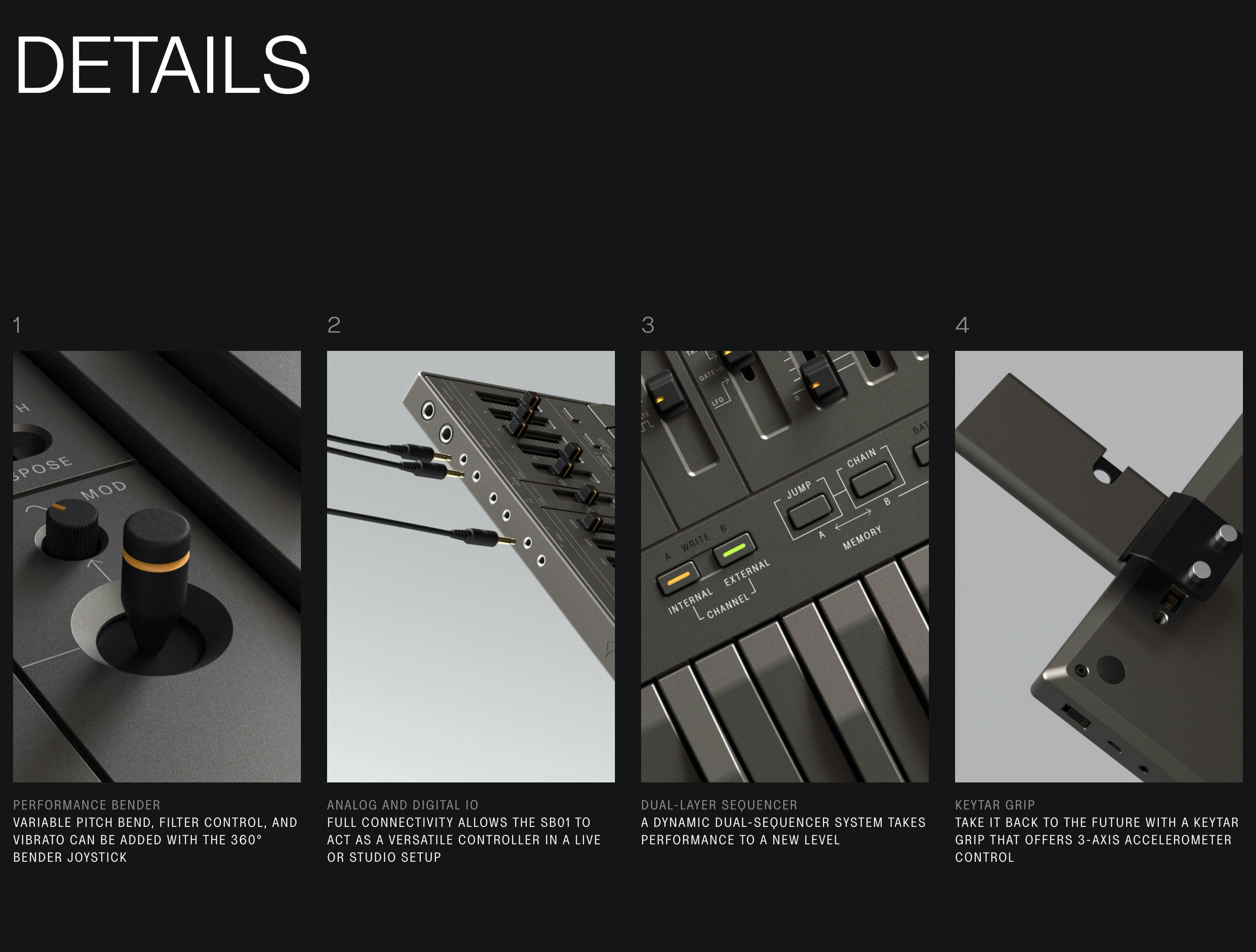 Product Features List with Vertical Photos