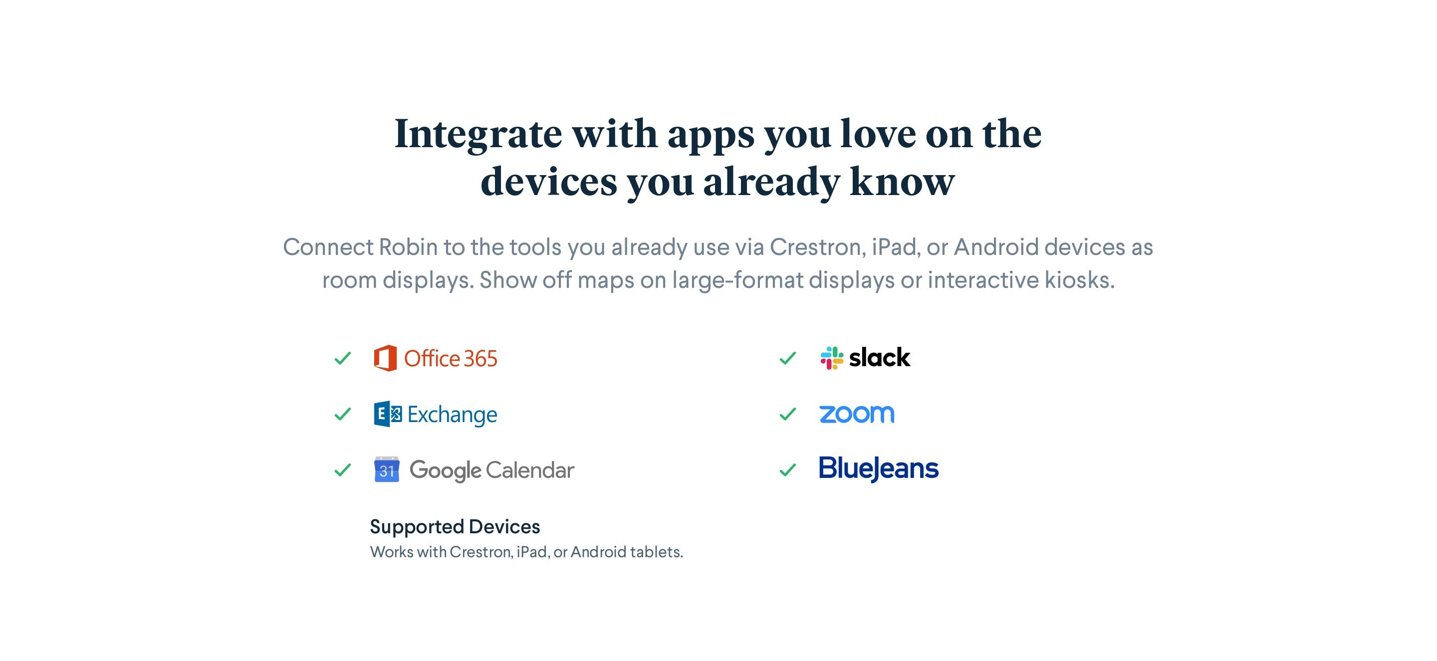 List of Apps Integrations with Logos