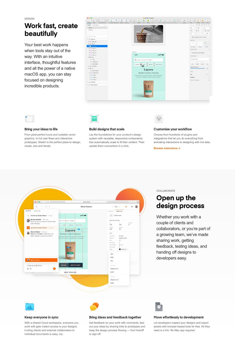 Feature with App Mockups Combined with 3-Column Grid