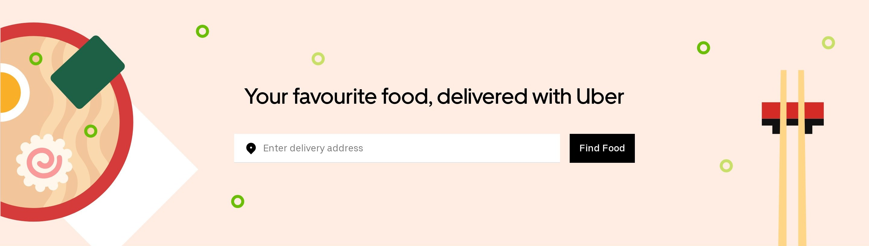 Delivery Address CTA Block to Order Food