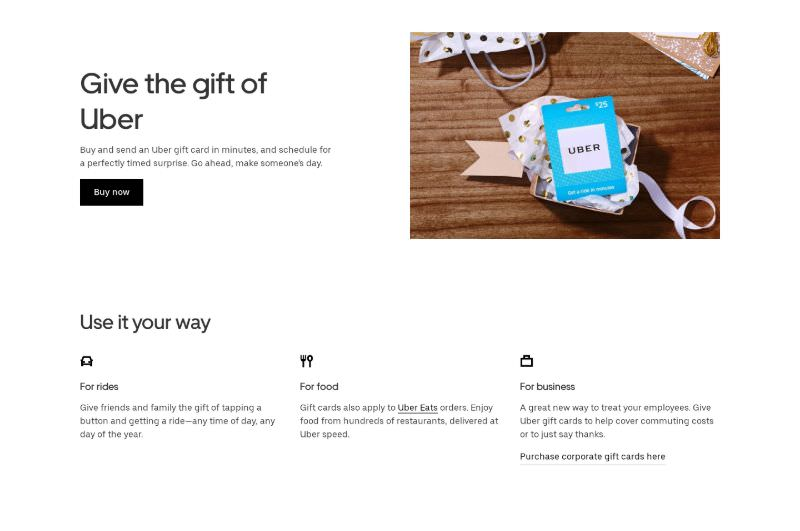 Gift Cards with Benefits List