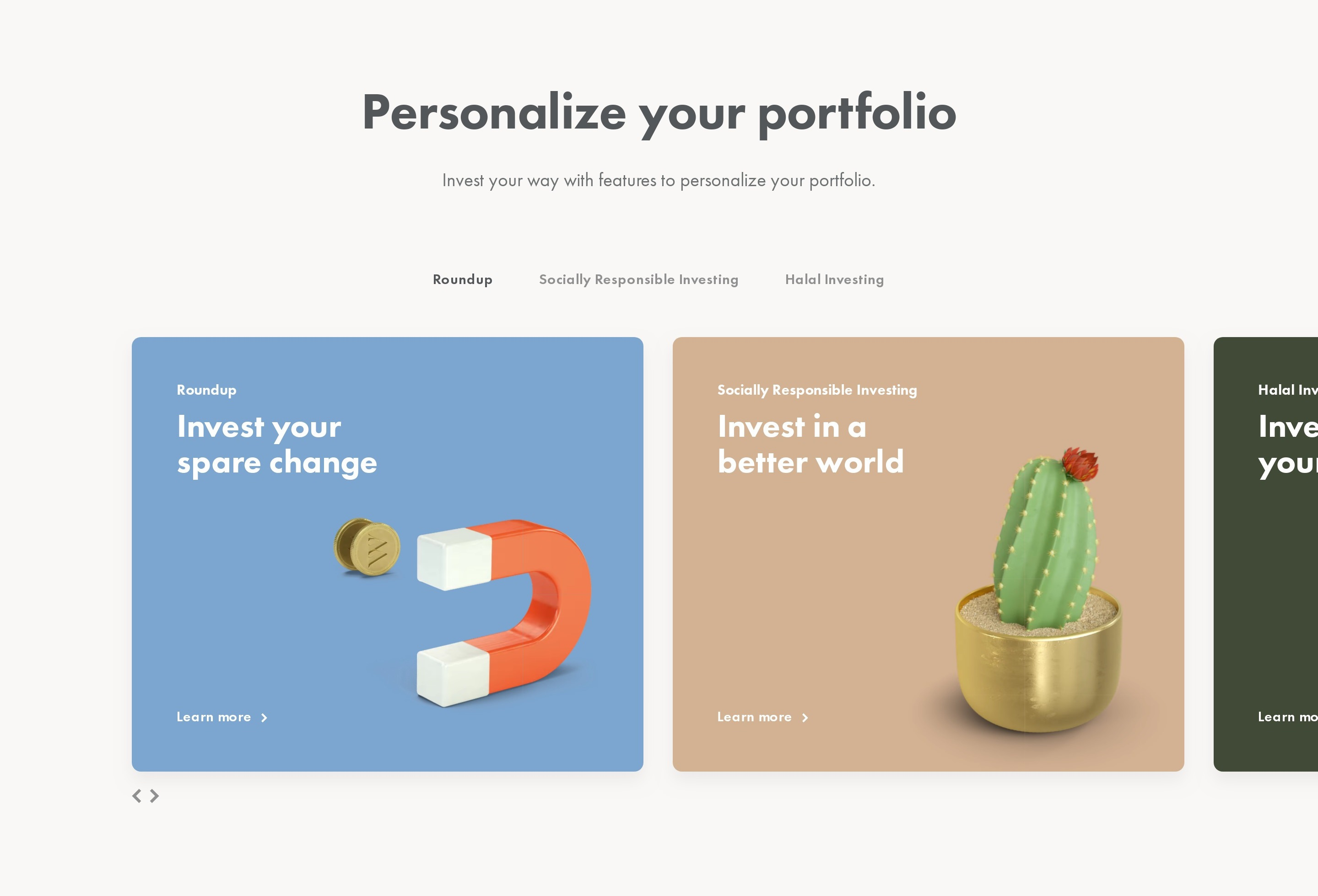 Features Slider with 3D Illustrations