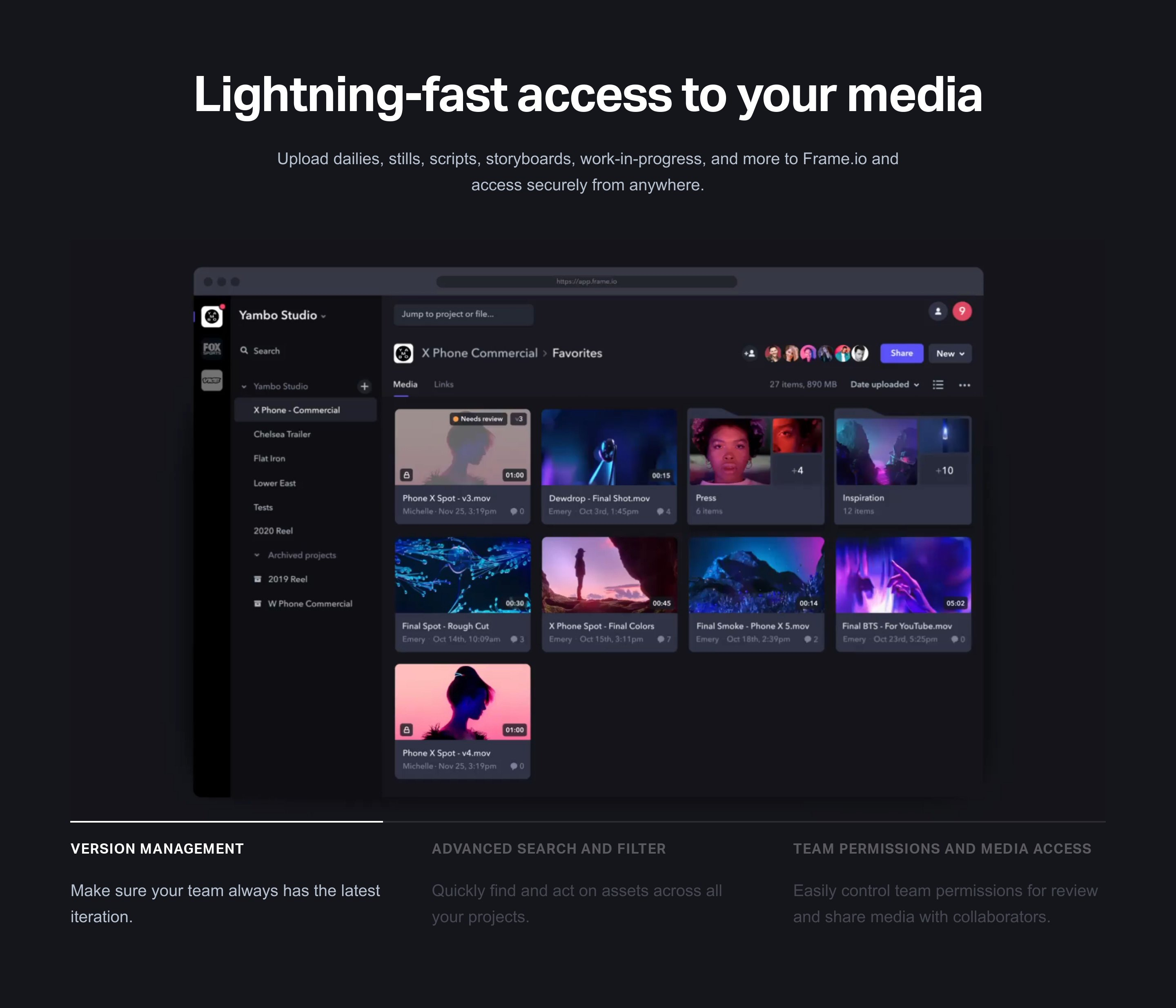 Features Slider with App Image