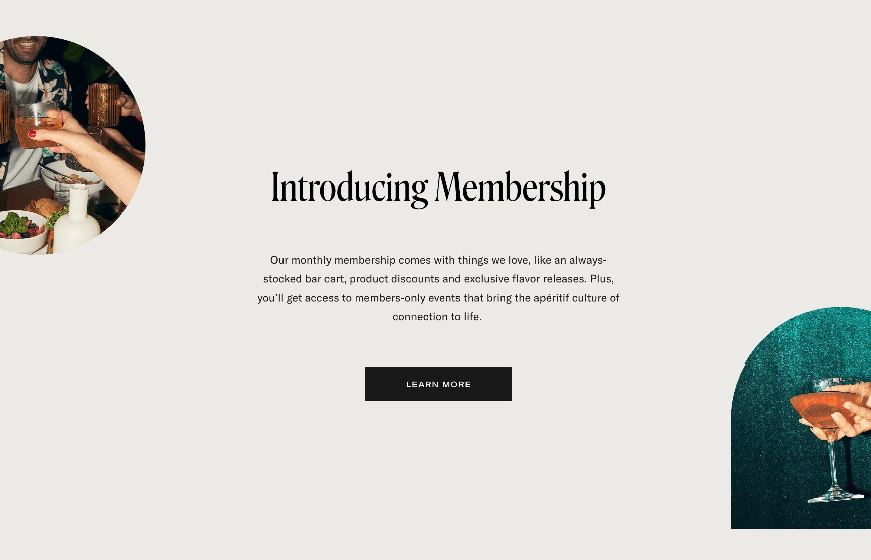 Membership Details with CTA