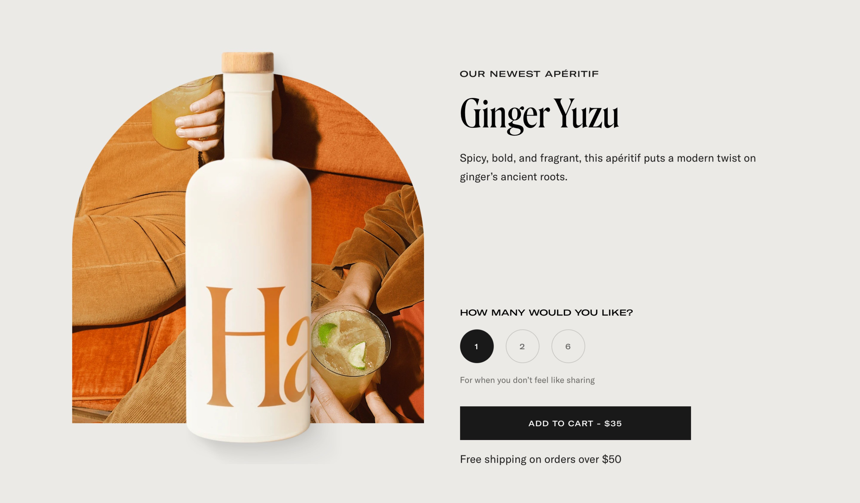 Product Details with Elegant Typography