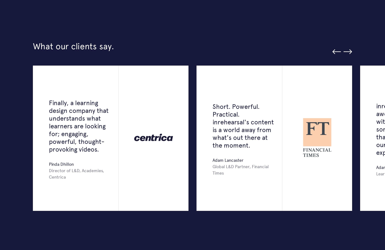 Slider with Clients Testimonials & Logos