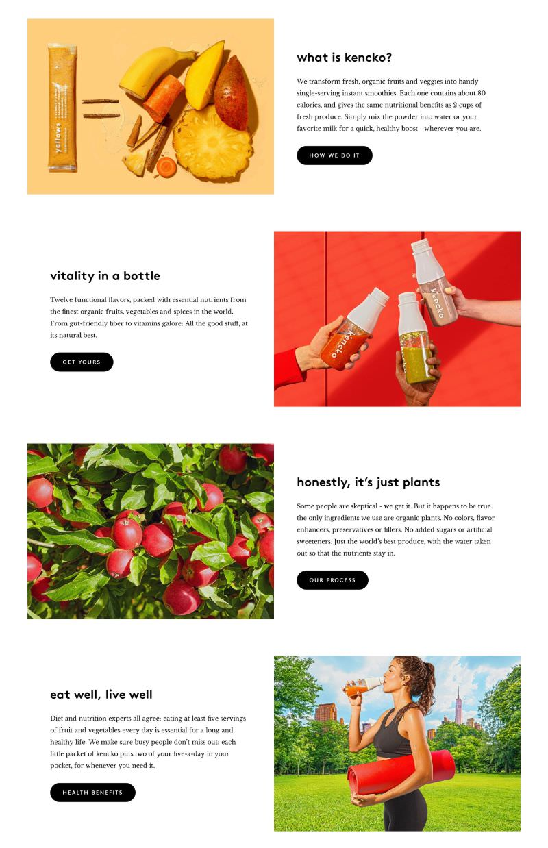 Features with Images and CTA Elements
