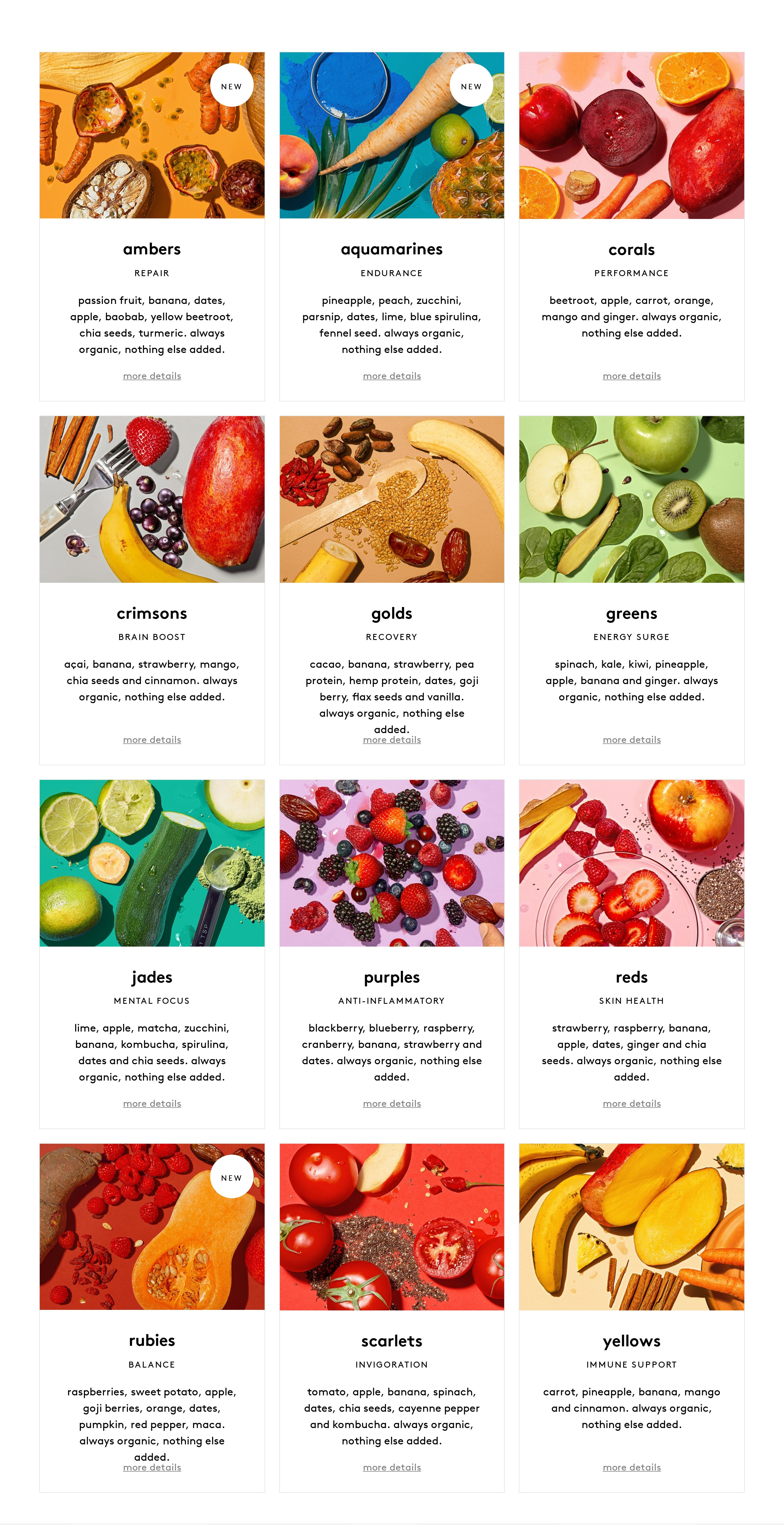 Products Grid List with Vivid Photos