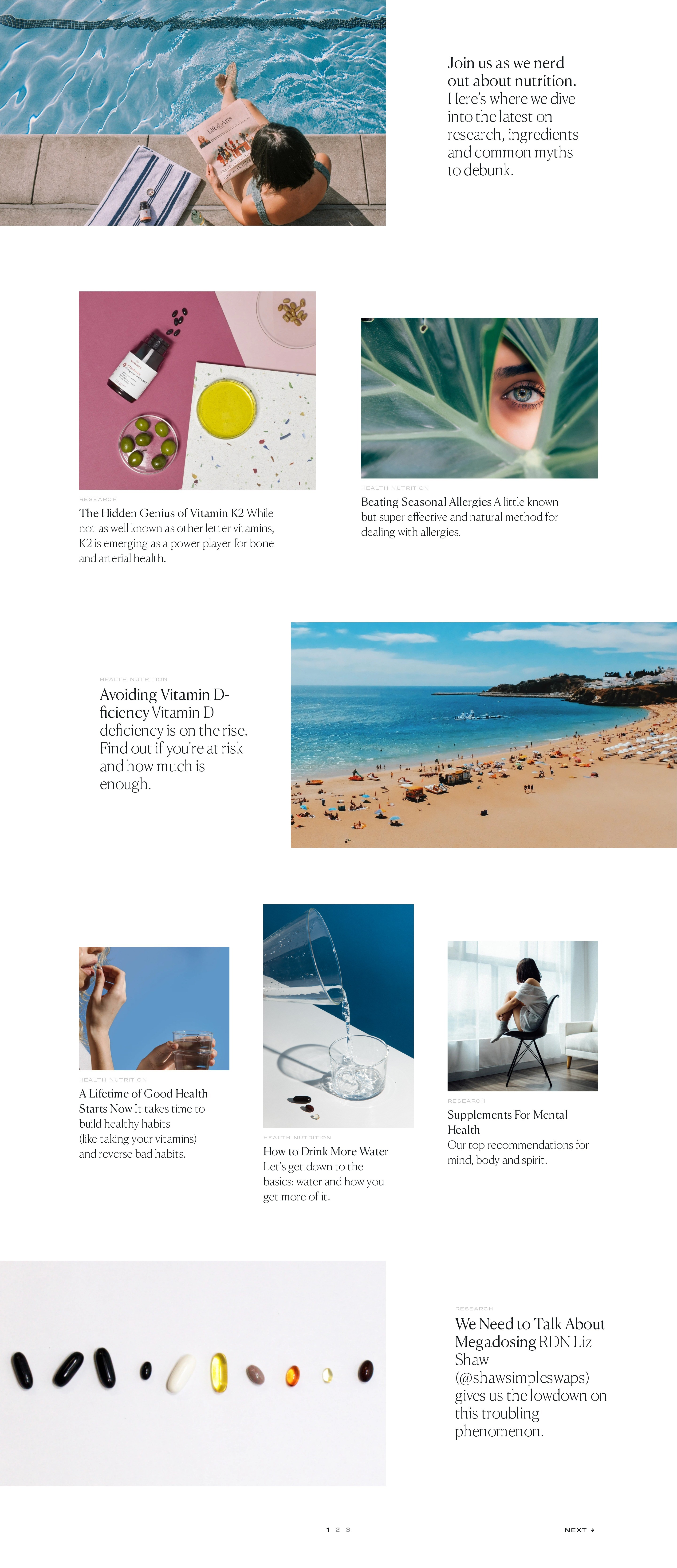 List of Blog Posts in Interesting Layout