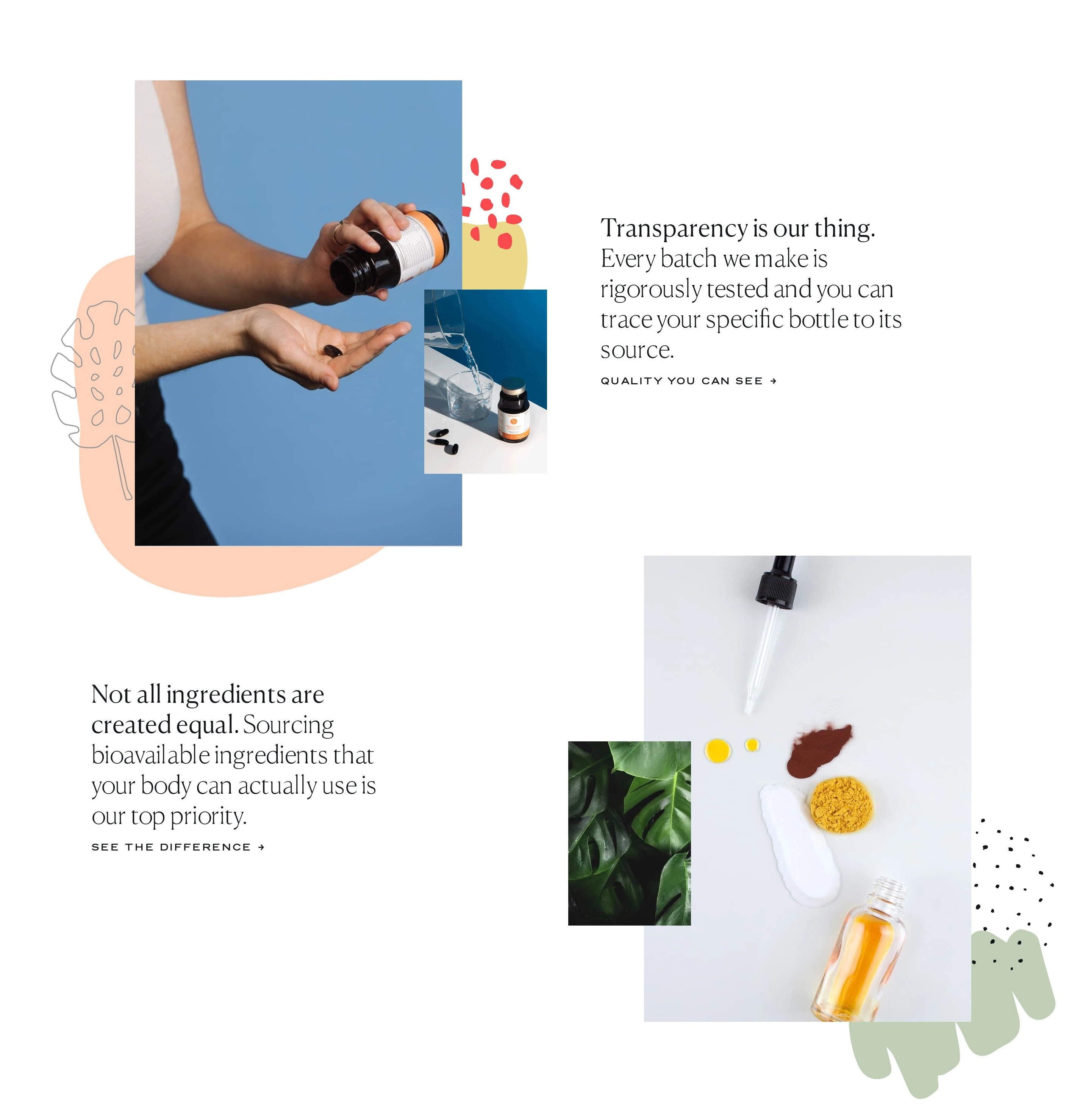 Benefits List with Photo Collages to Support Idea