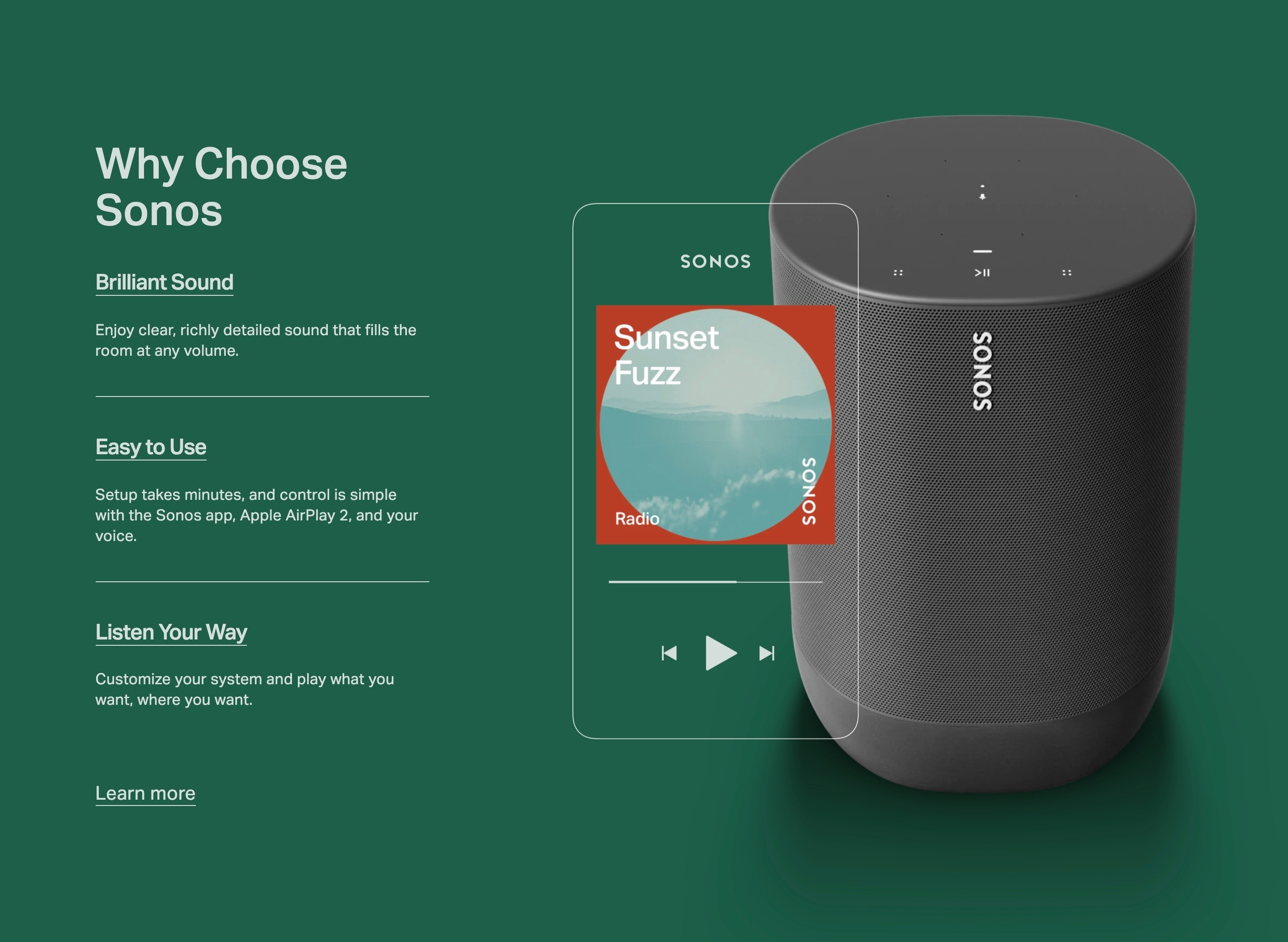 Clickable Features with Product Photo