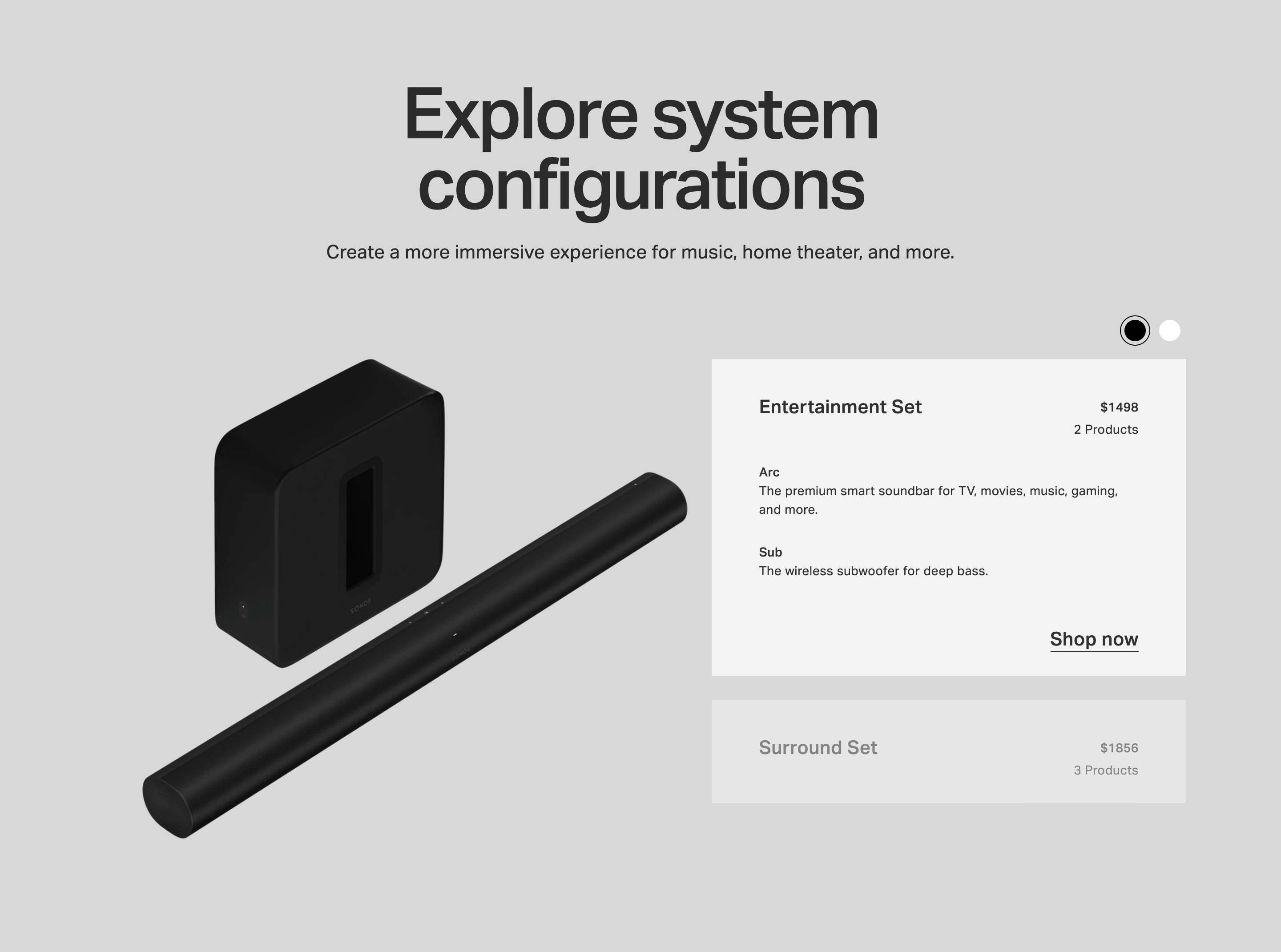 Shopping Product Configurations