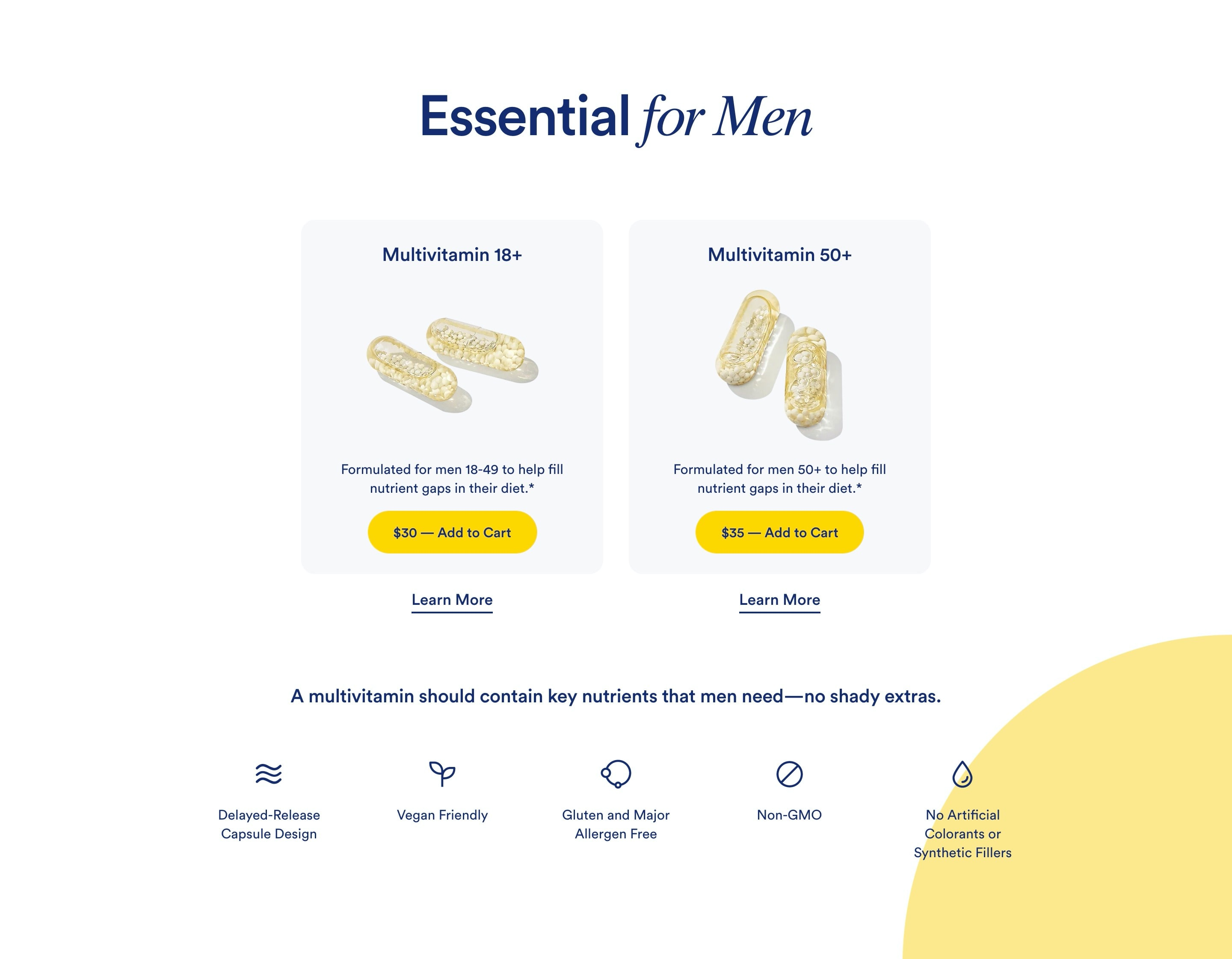 Ecommerce Product Categories with Benefits