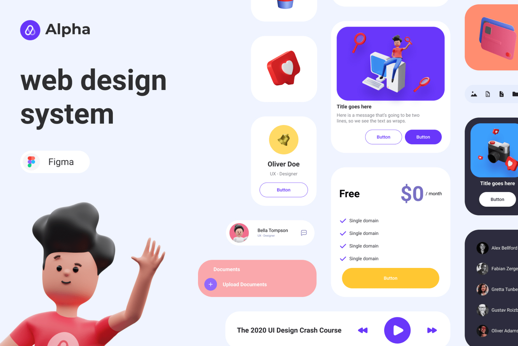 Design System with 3D Illustrations