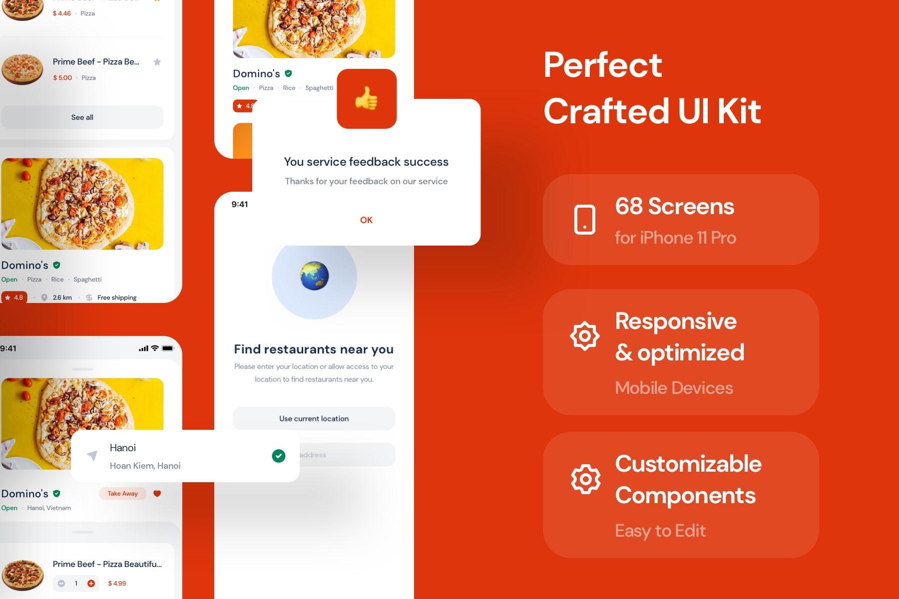 Food Delivery UI Kit