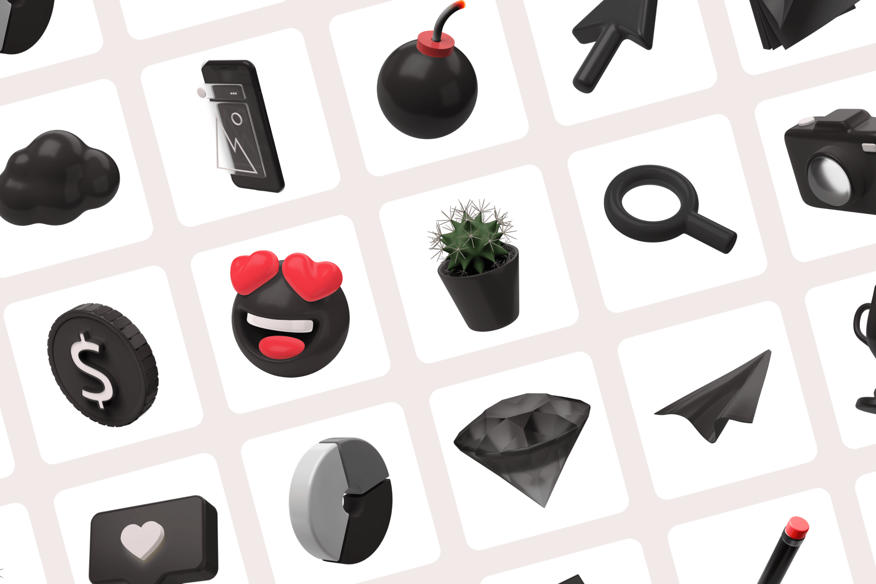 30 Easily Customizable 3D Icons