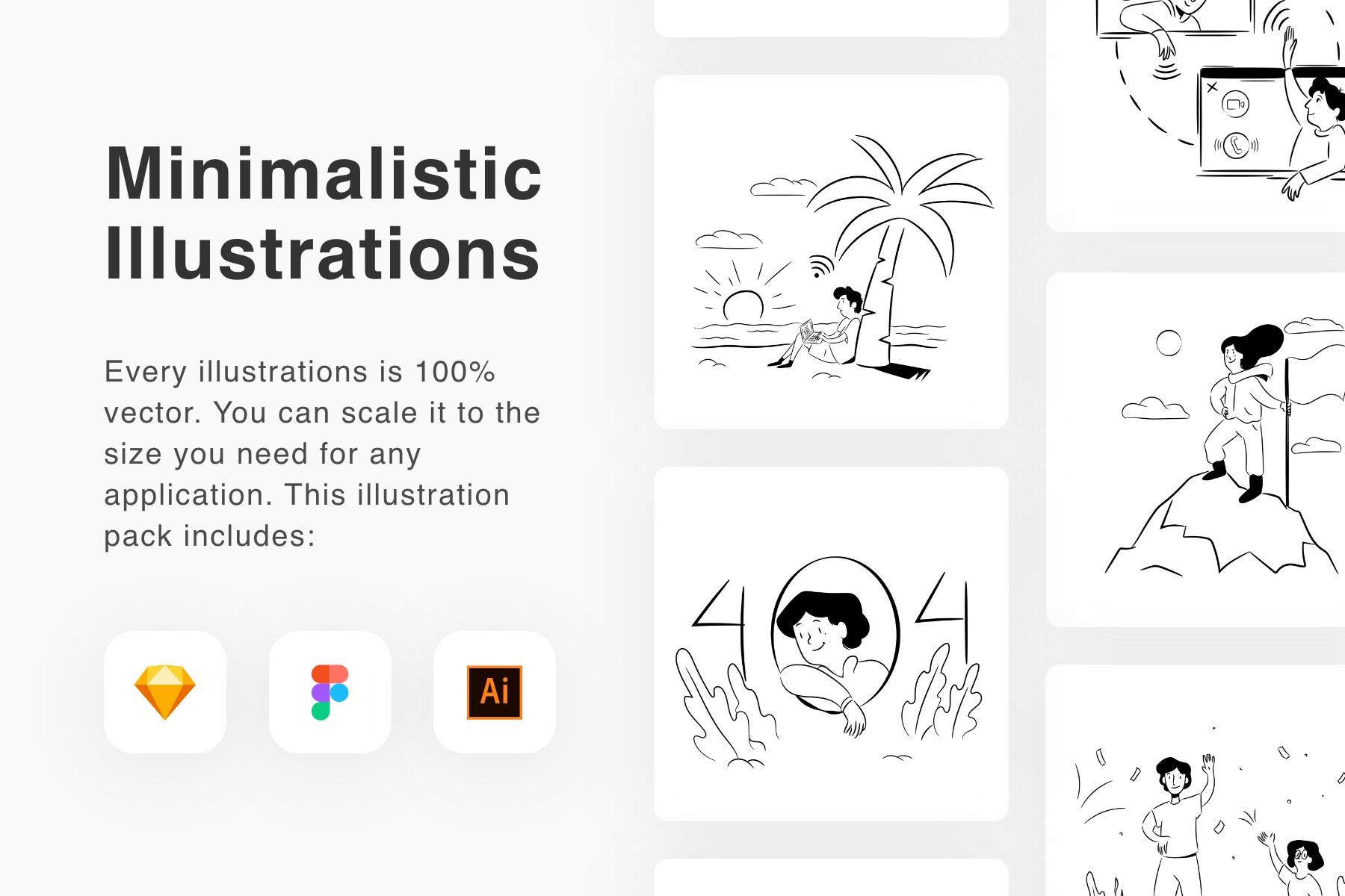 Minimalistic Illustrations