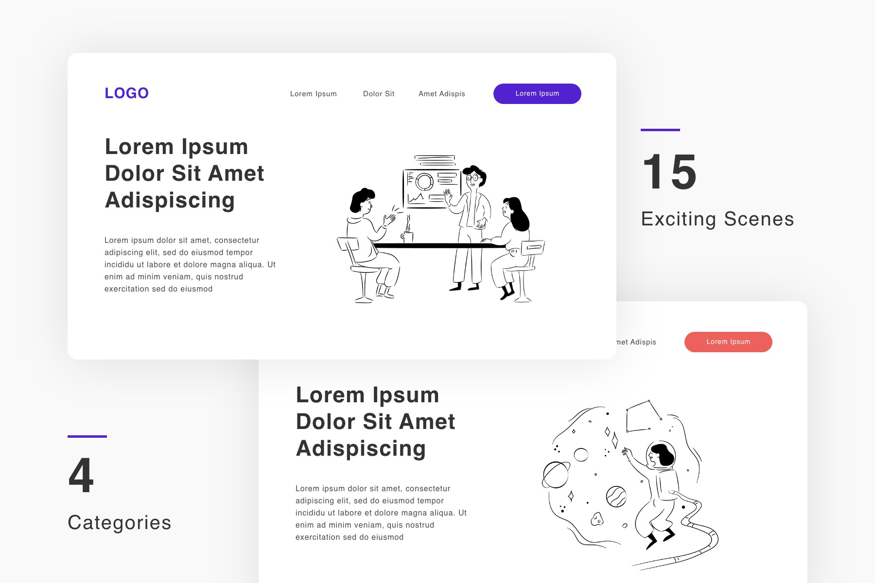 Illustrations Pack for Your Projects