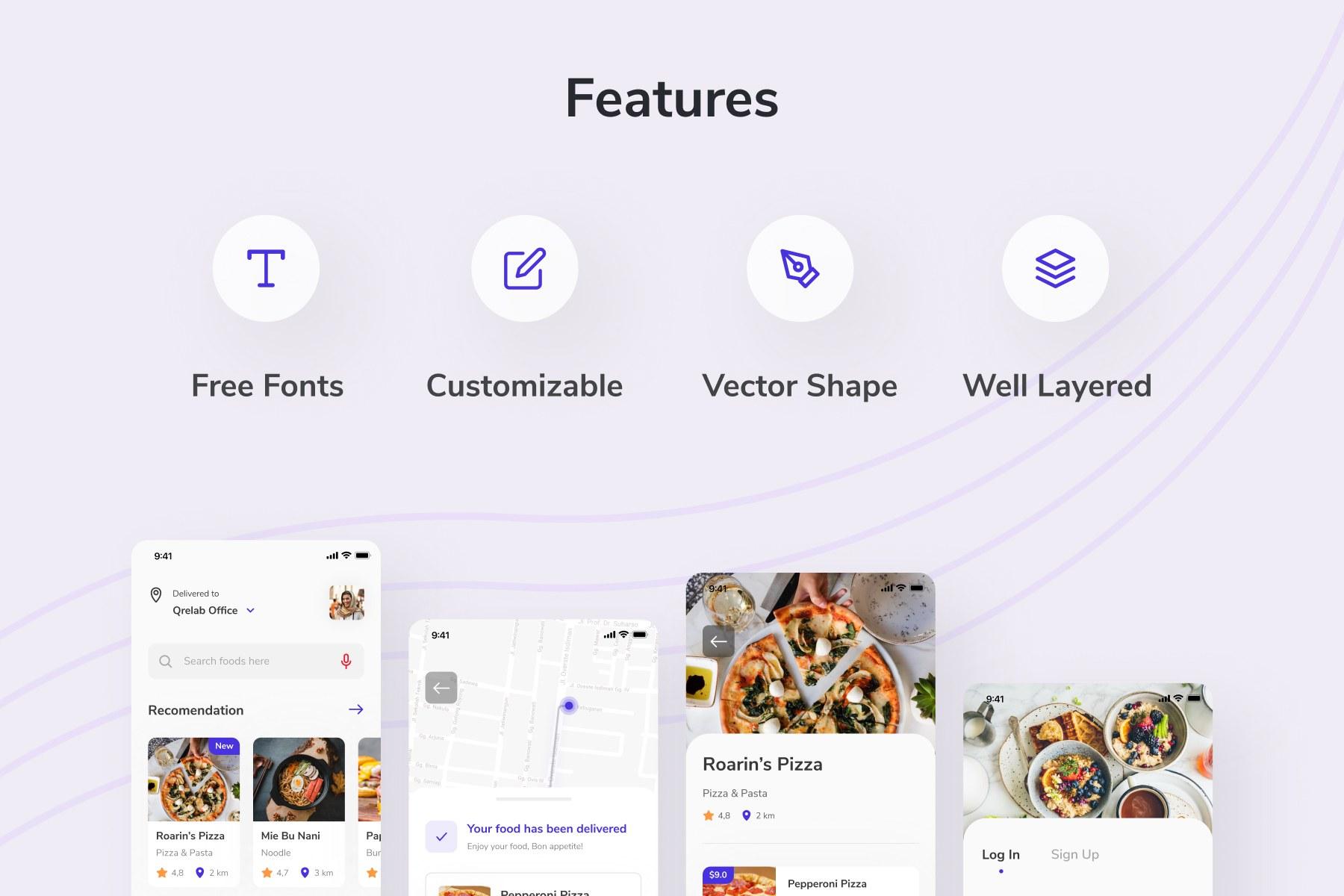 Food Delivery App UI Kit