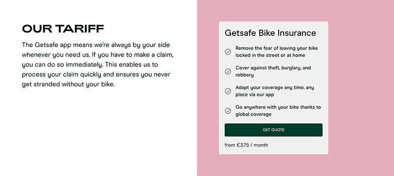 Insurance Get Quote with CTA Button