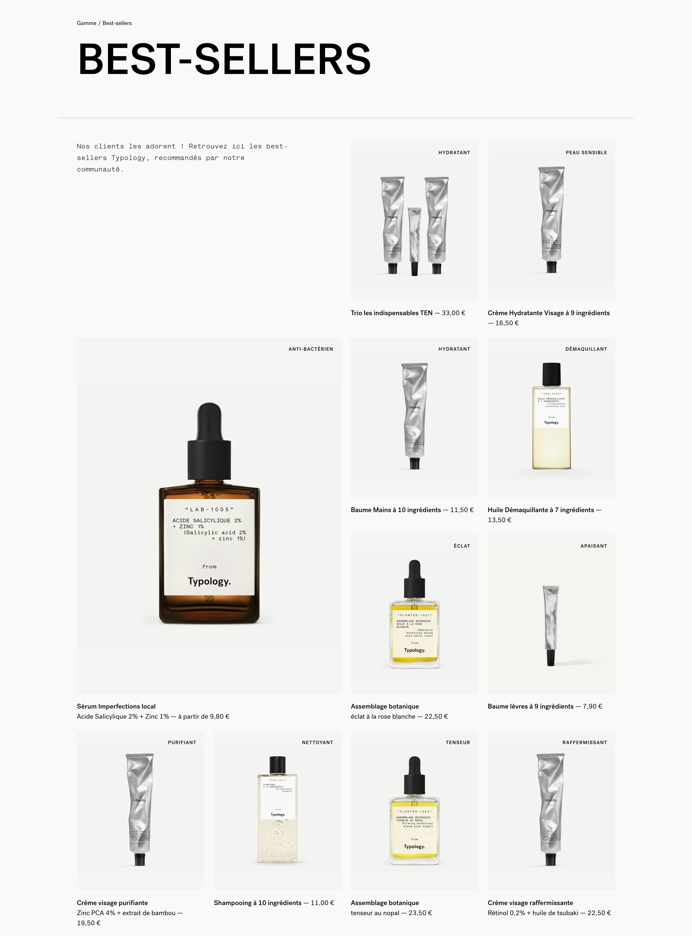 Products List with Photos and Price