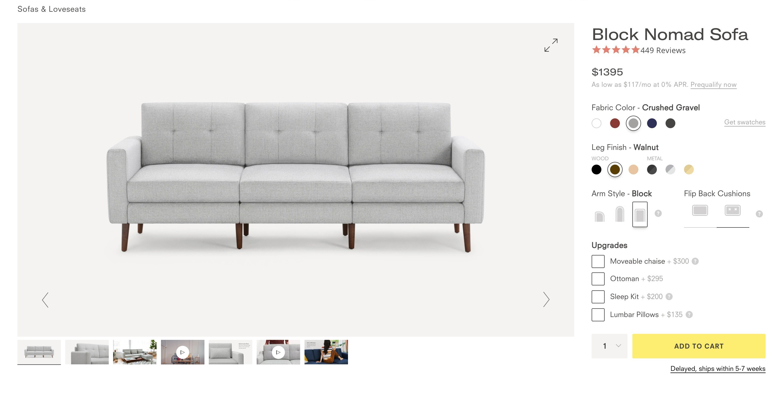 Furniture Selling Ecommerce Block