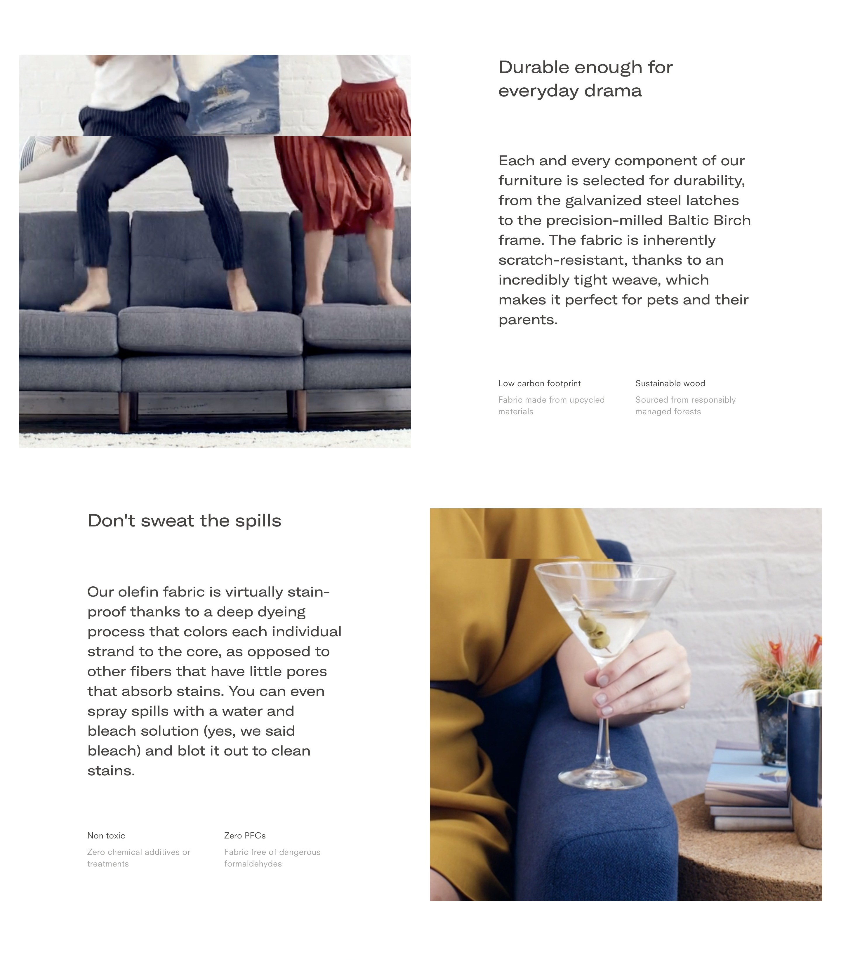 Product Features in Two Column Layout with Product Photos