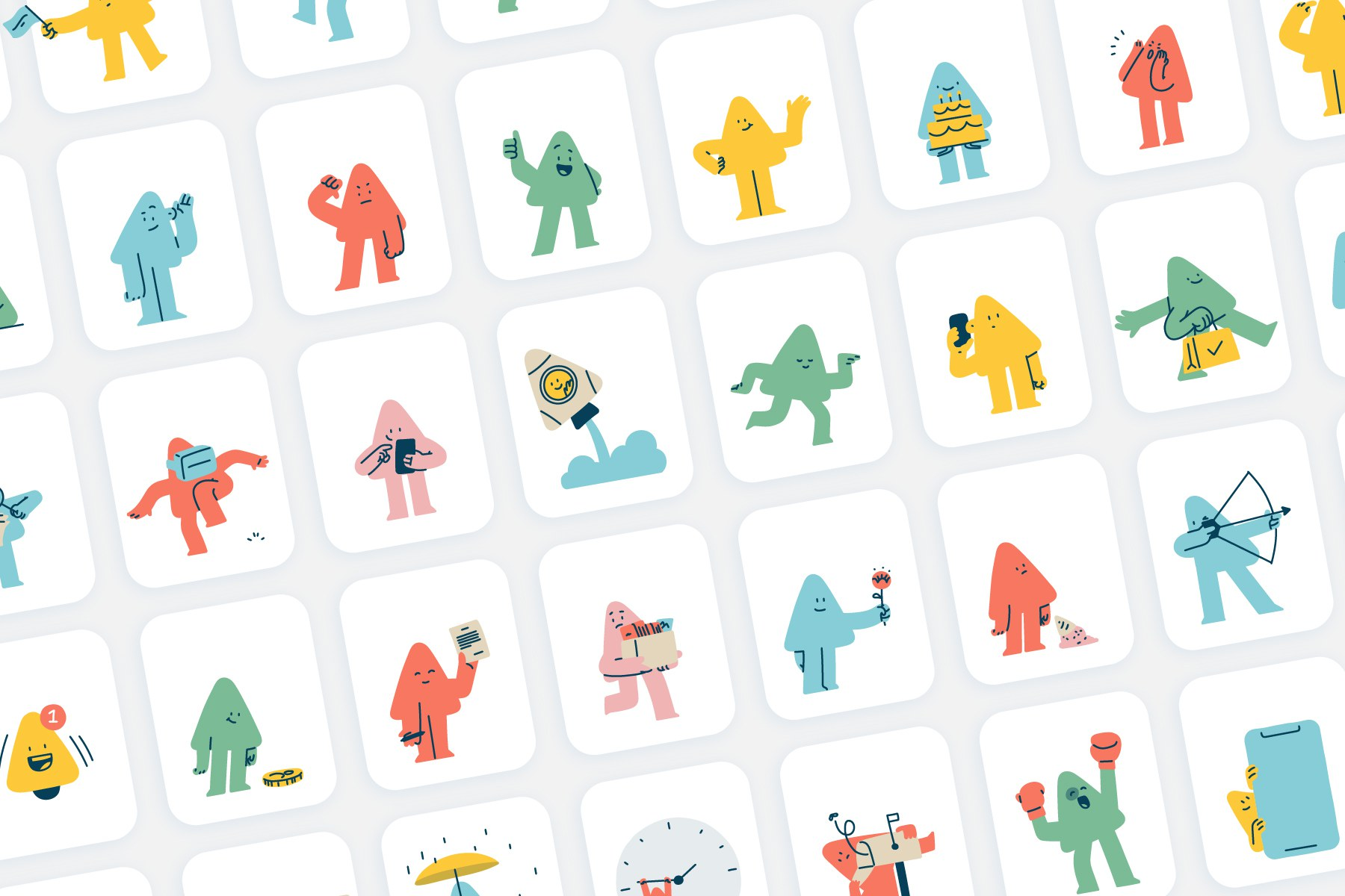 55 Playful Triangle Illustrations