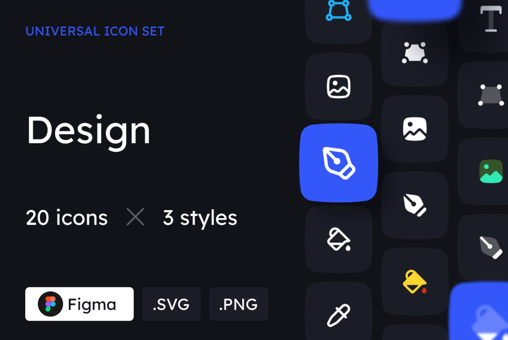 Design Icons in 3 styles
