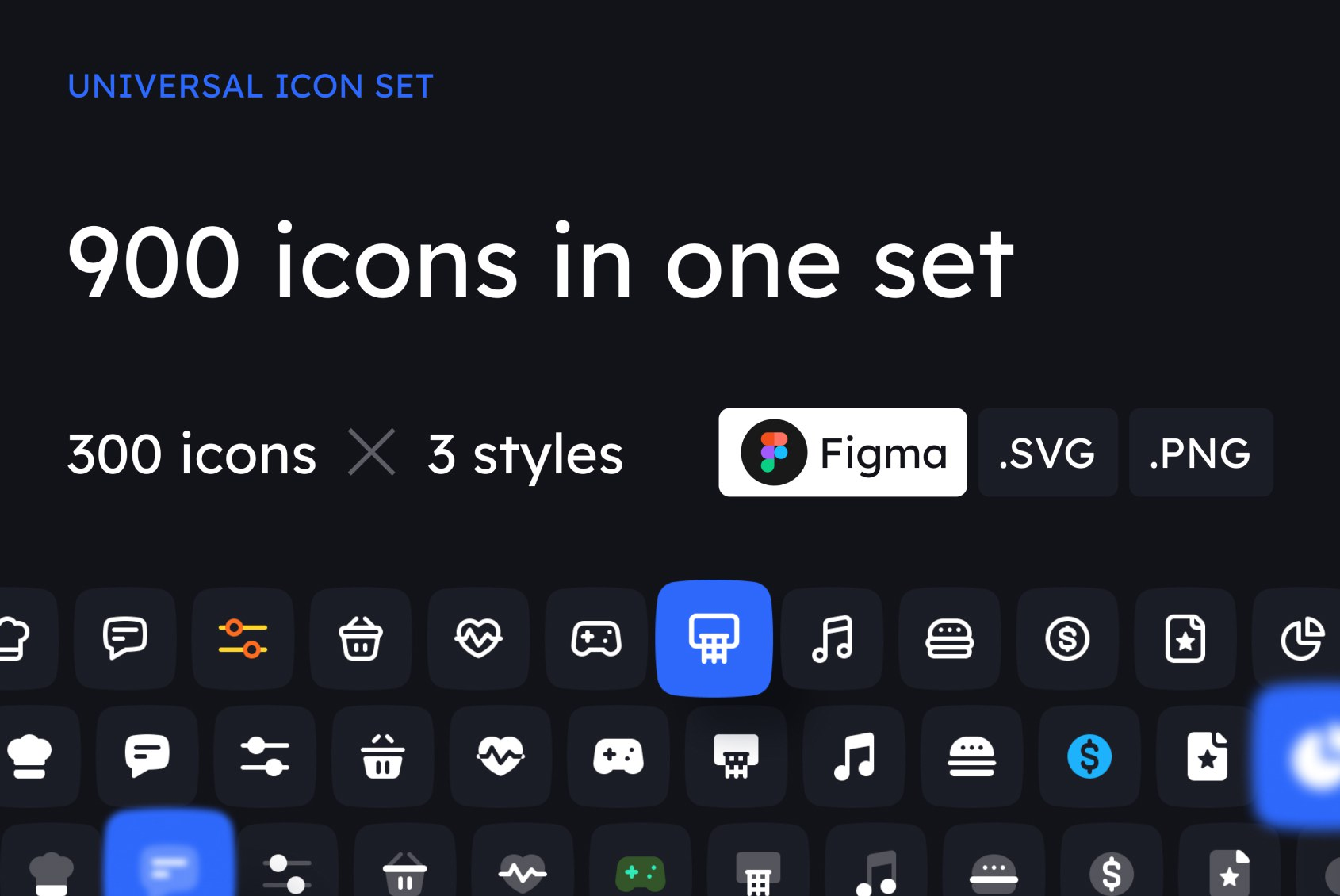 900 Icons in One Set