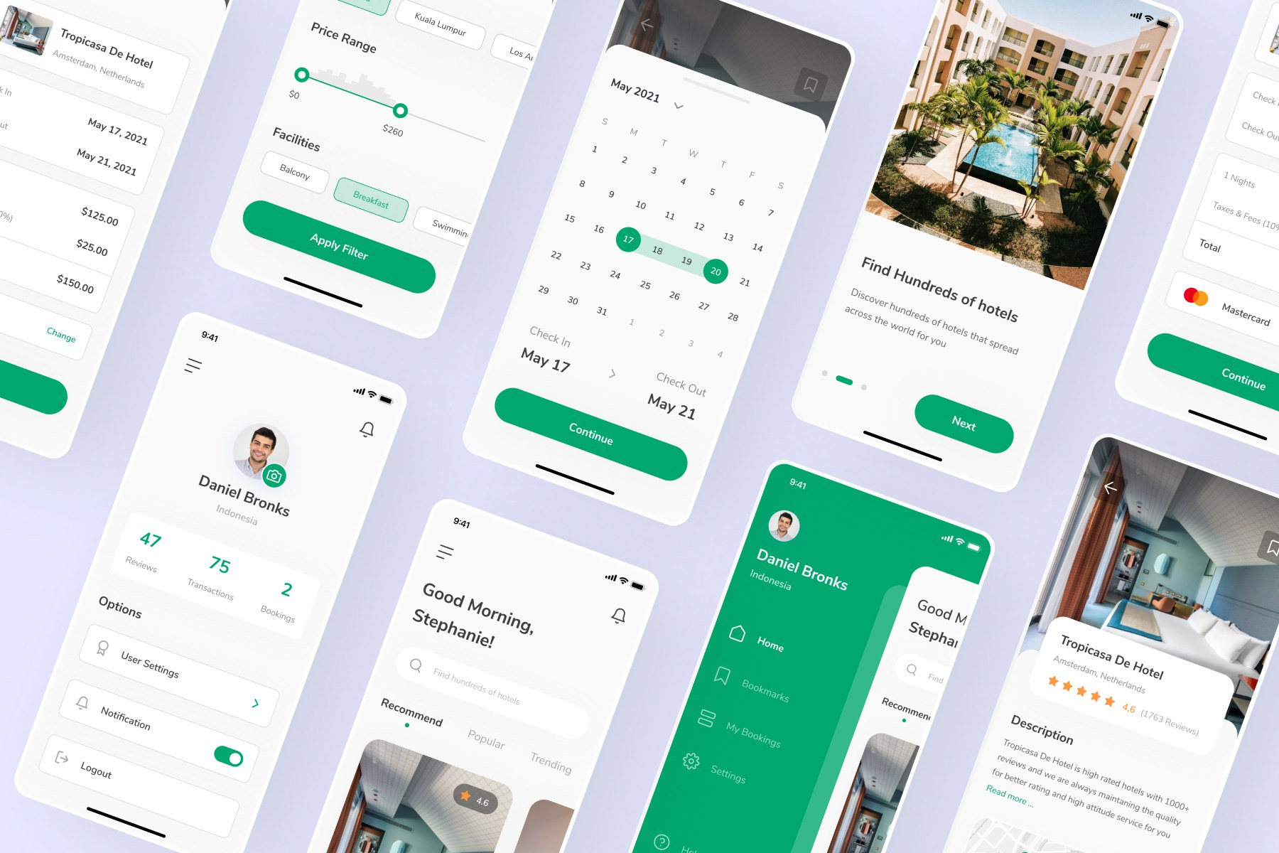 Hotel Booking App UI Kit