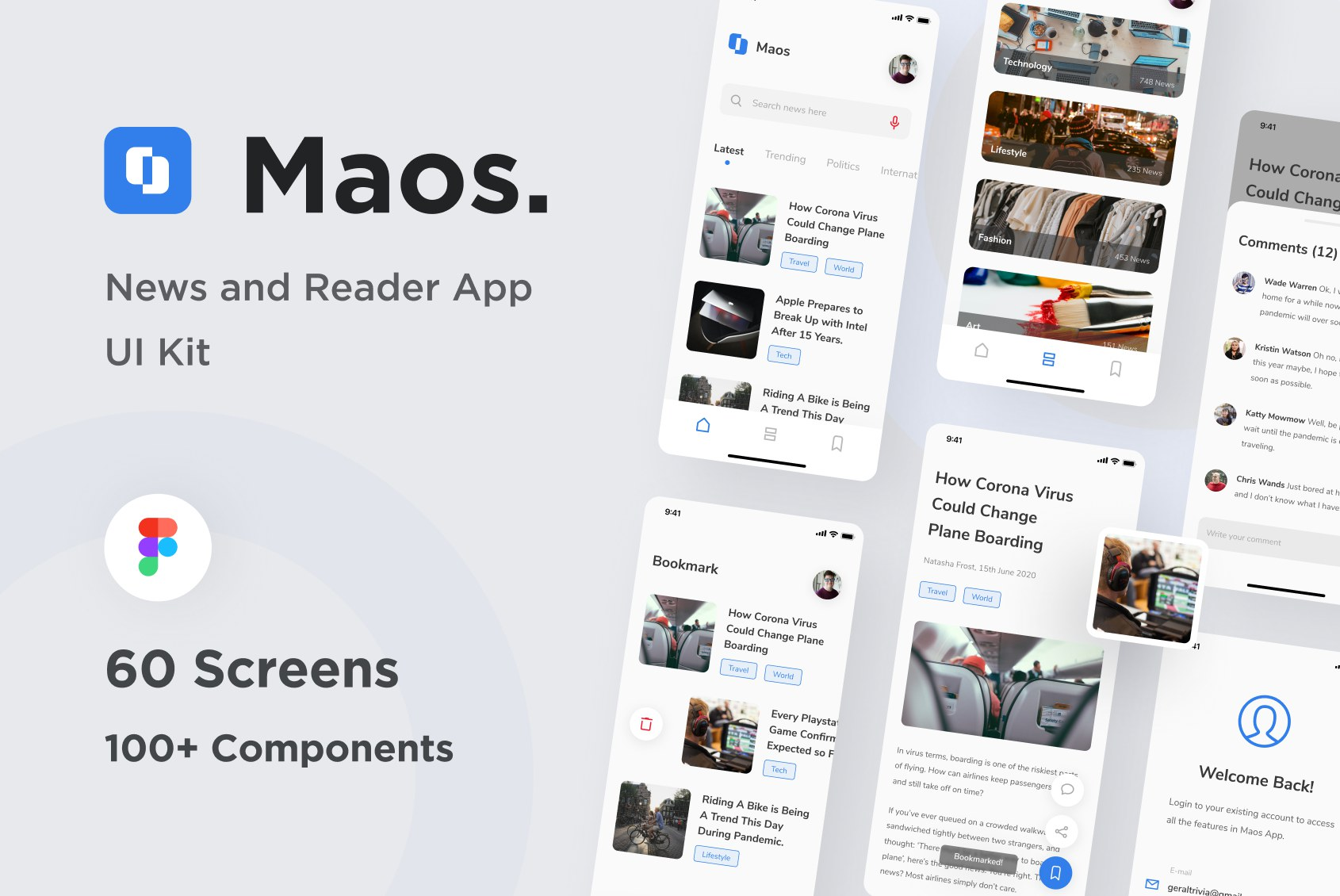 News & Reading App UI Kit