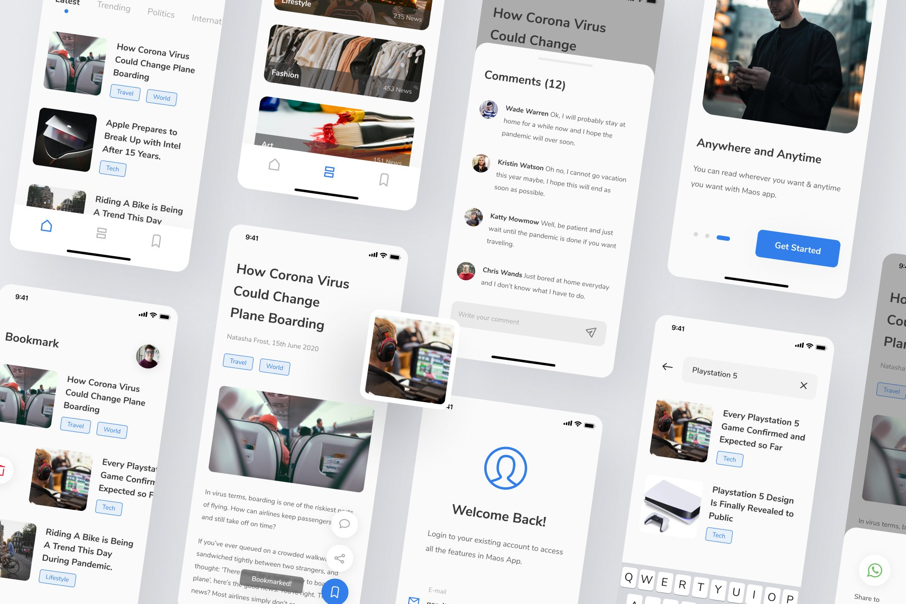 News & Reading App UI Kit