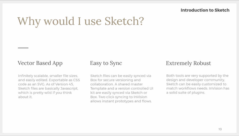 Why would I use Sketch?