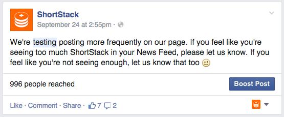 Shortstack Update
